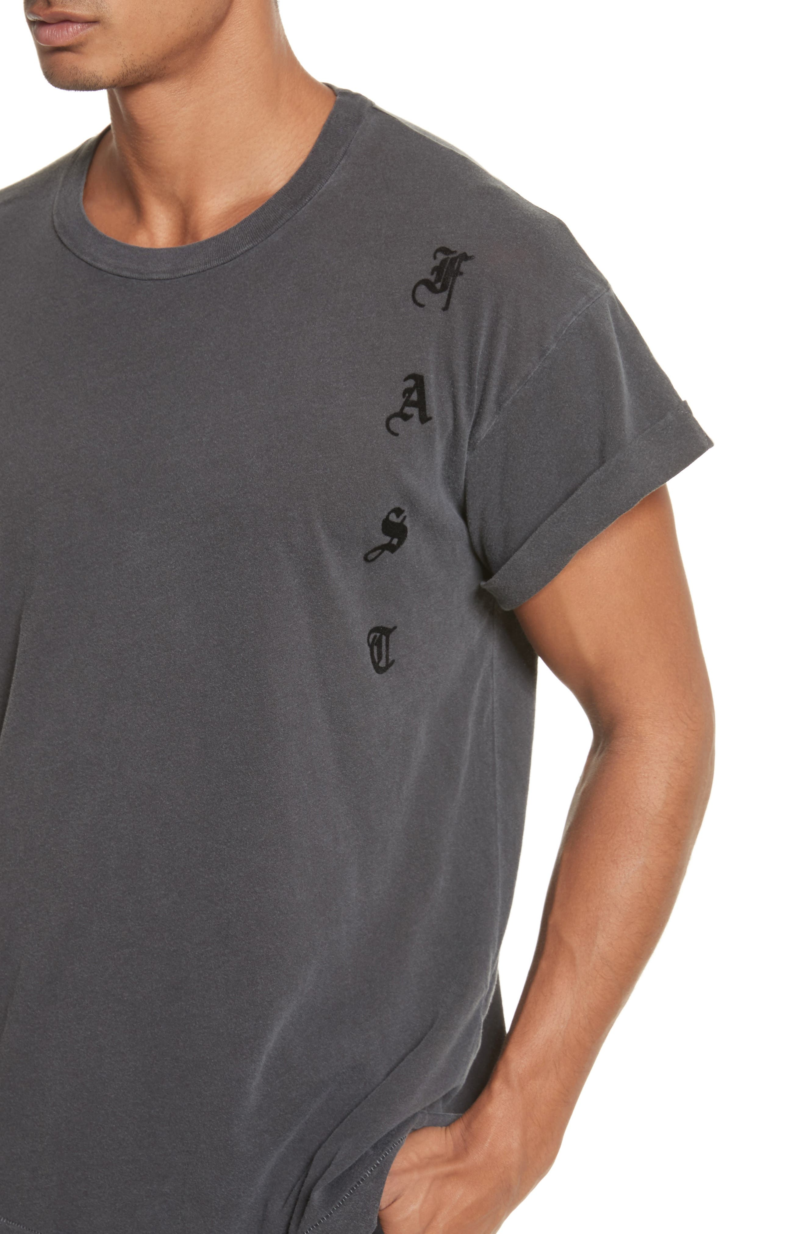 Abassi Embroidered T-Shirt,                             Alternate thumbnail 4, color,                             Blk Pigment