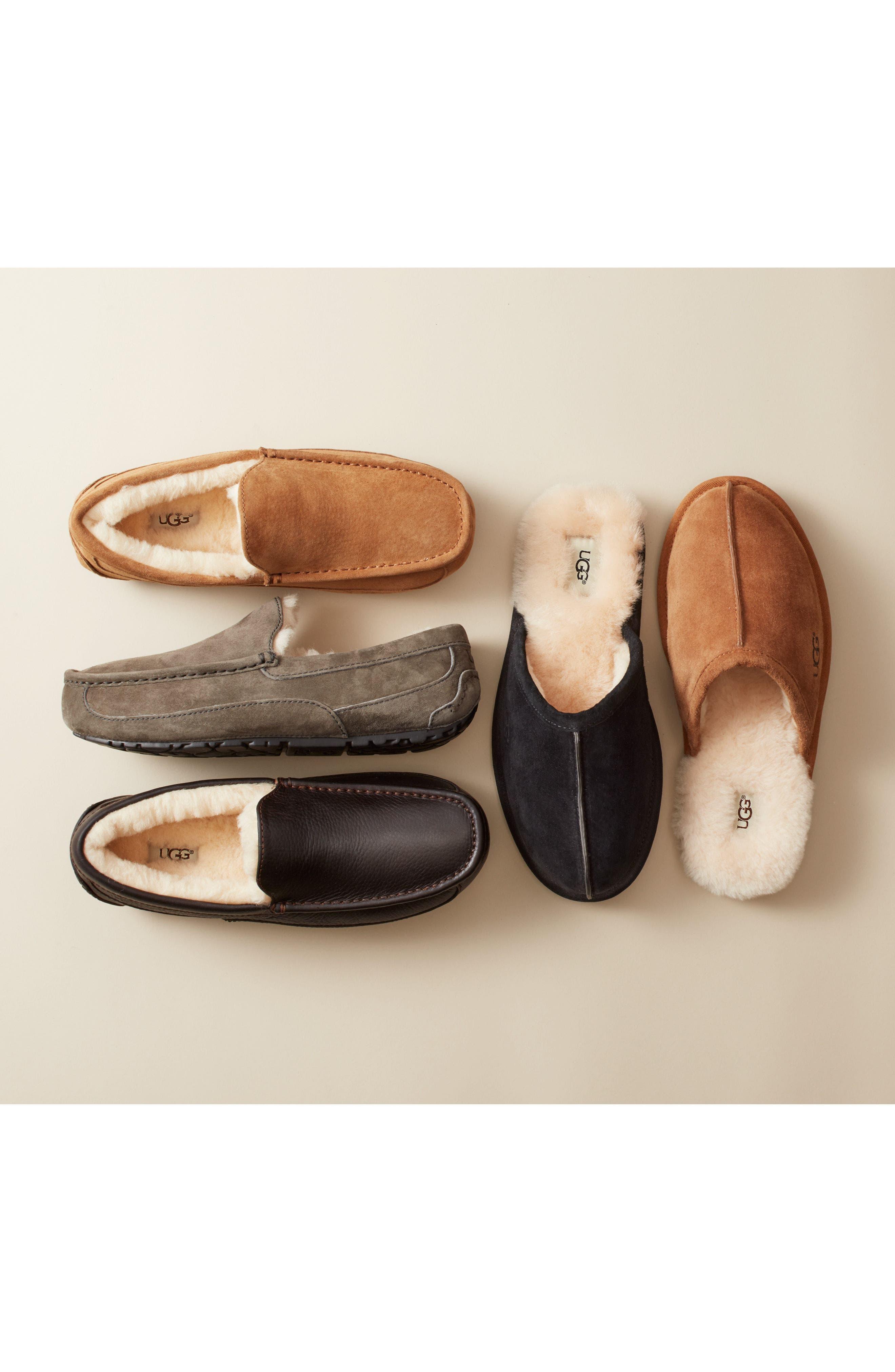 Alternate Image 7  - UGG® Ascot Leather Slipper (Men)