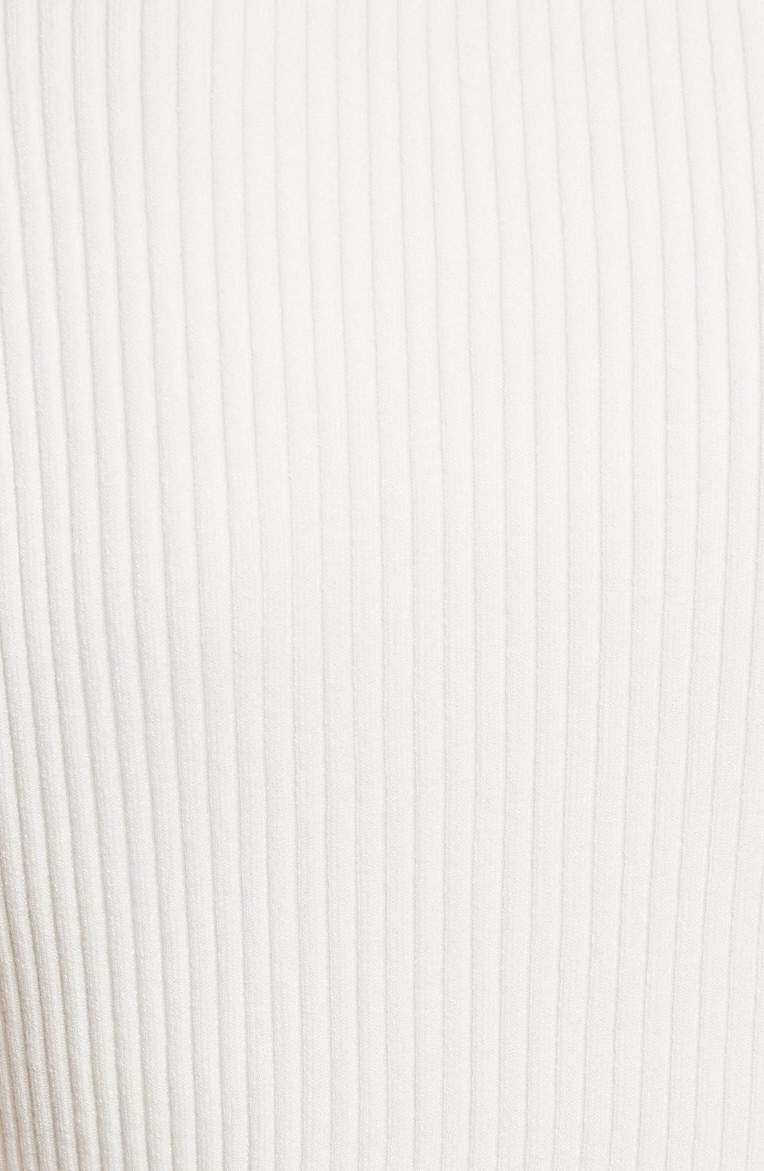 Ruffle Edge Ribbed Shell,                             Alternate thumbnail 5, color,                             White