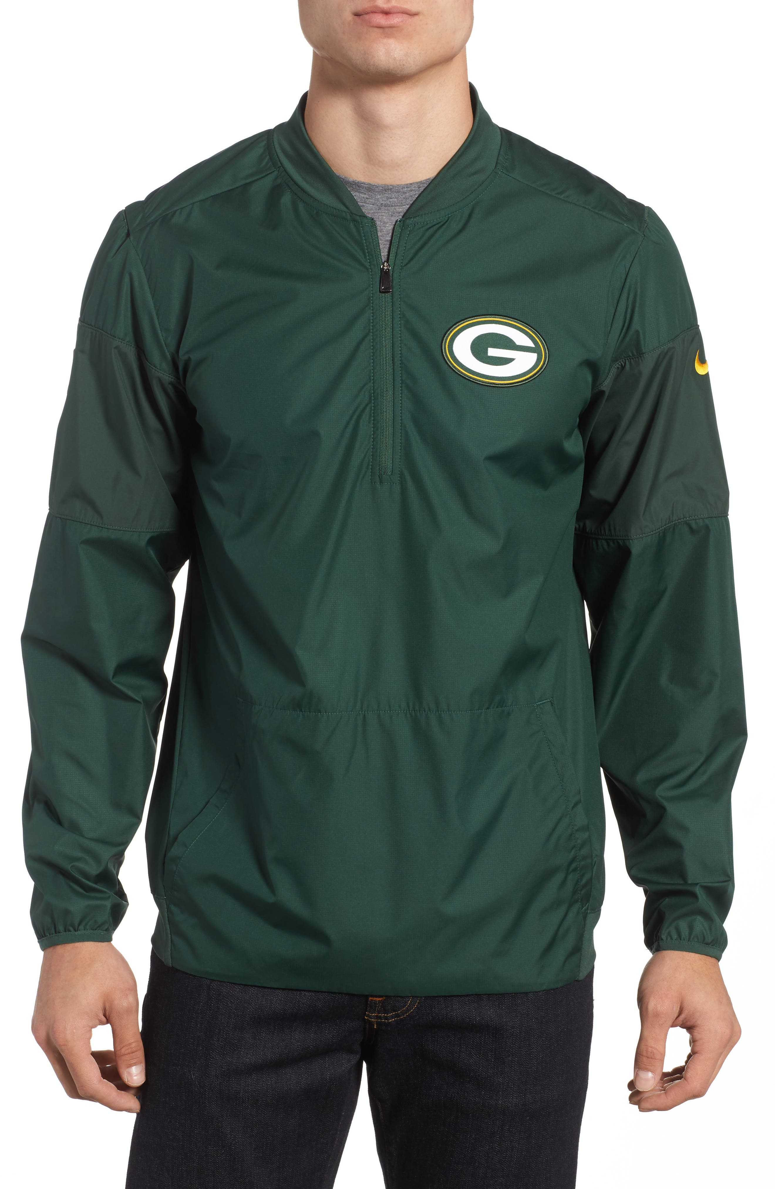 Lockdown NFL Pullover Jacket,                         Main,                         color, Packers