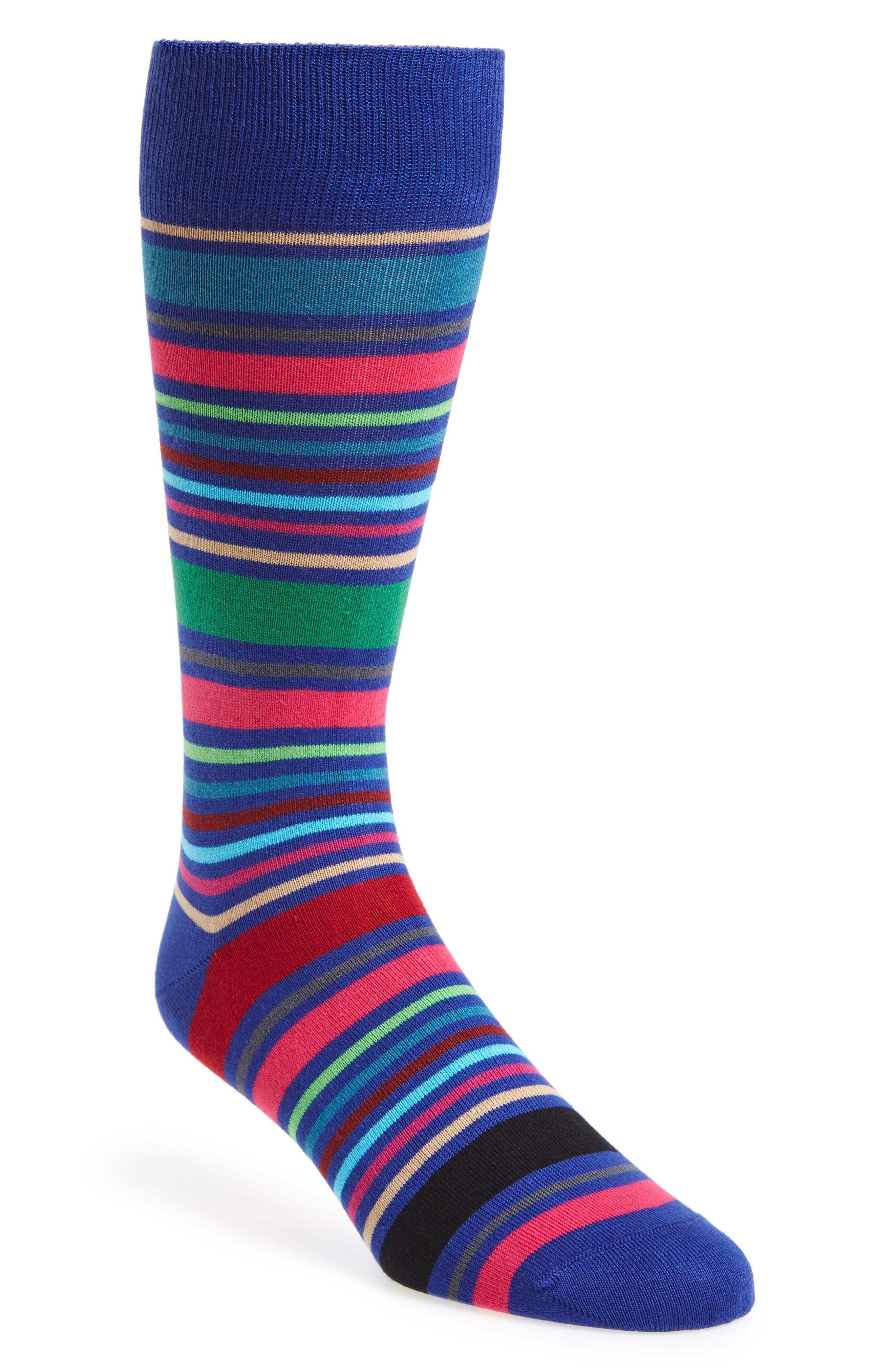 Alternate Image 1 Selected - Paul Smith Wolfie Stripe Socks