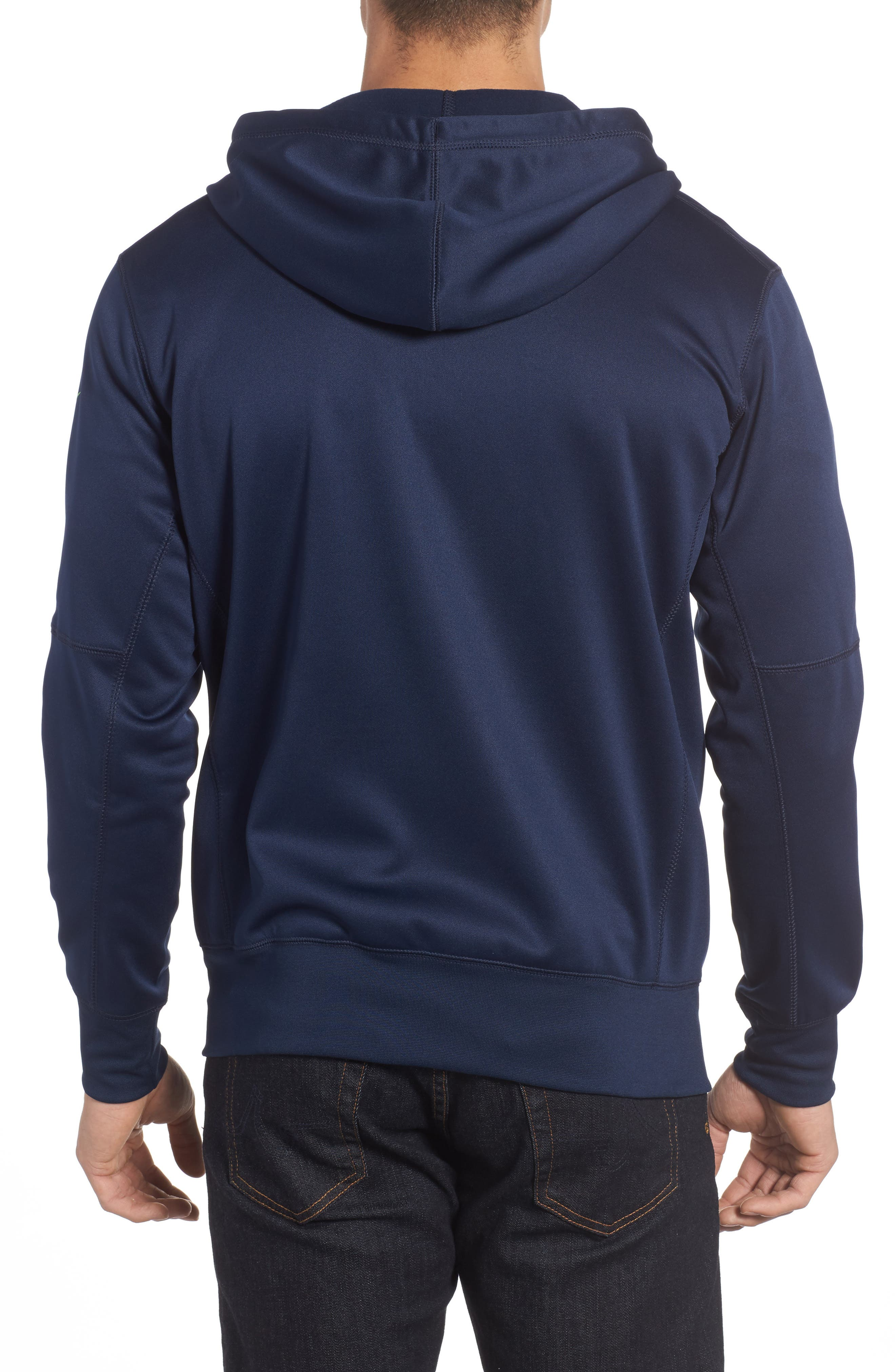 Therma-FIT NFL Graphic Zip Hoodie,                             Alternate thumbnail 2, color,                             Seahawks