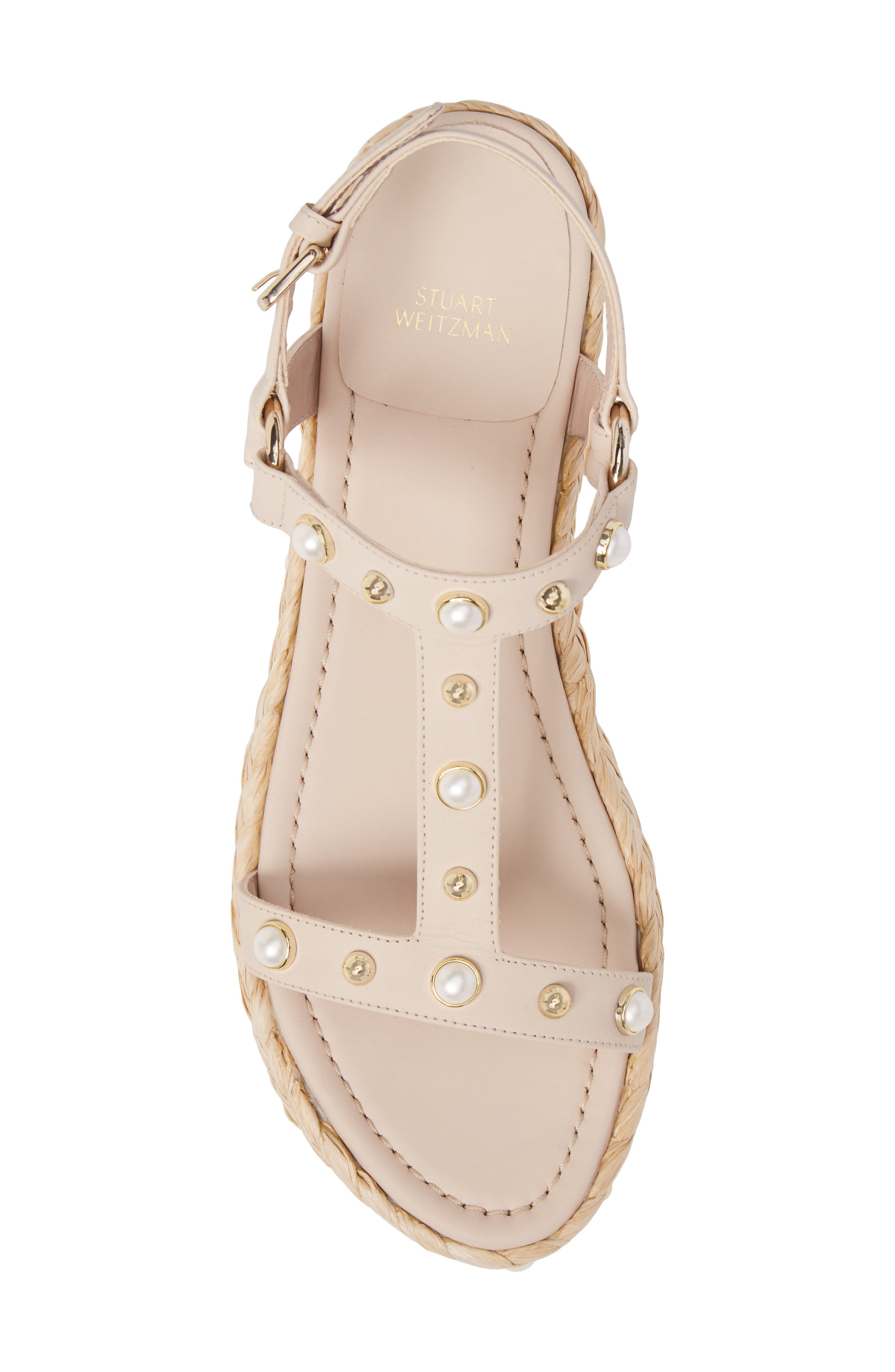 Alternate Image 5  - Stuart Weitzman Beraffia Platform Sandal (Women)