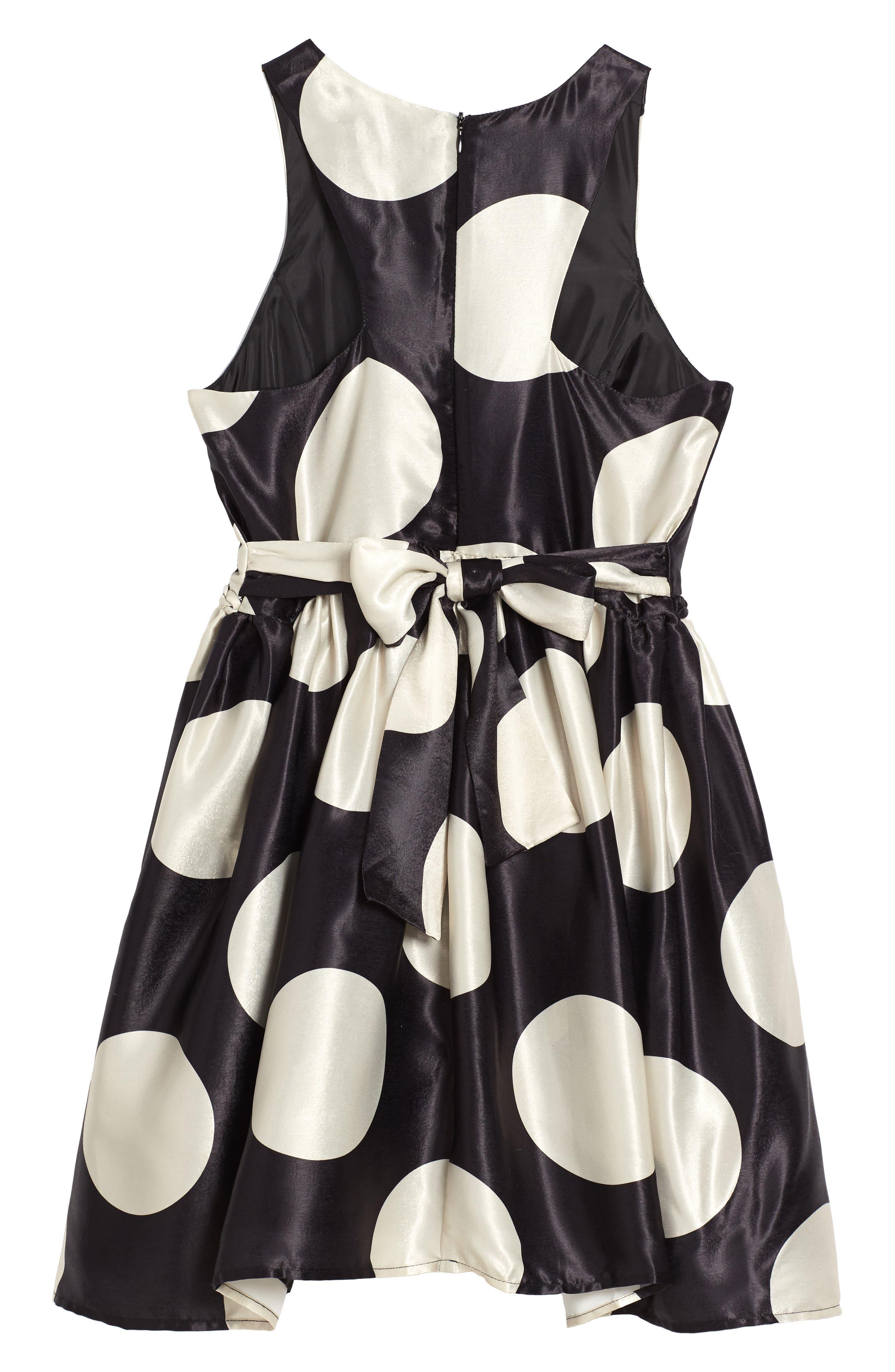 Alternate Image 2  - Ava & Yelly Braided Waist Fit & Flare Dress (Big Girls)