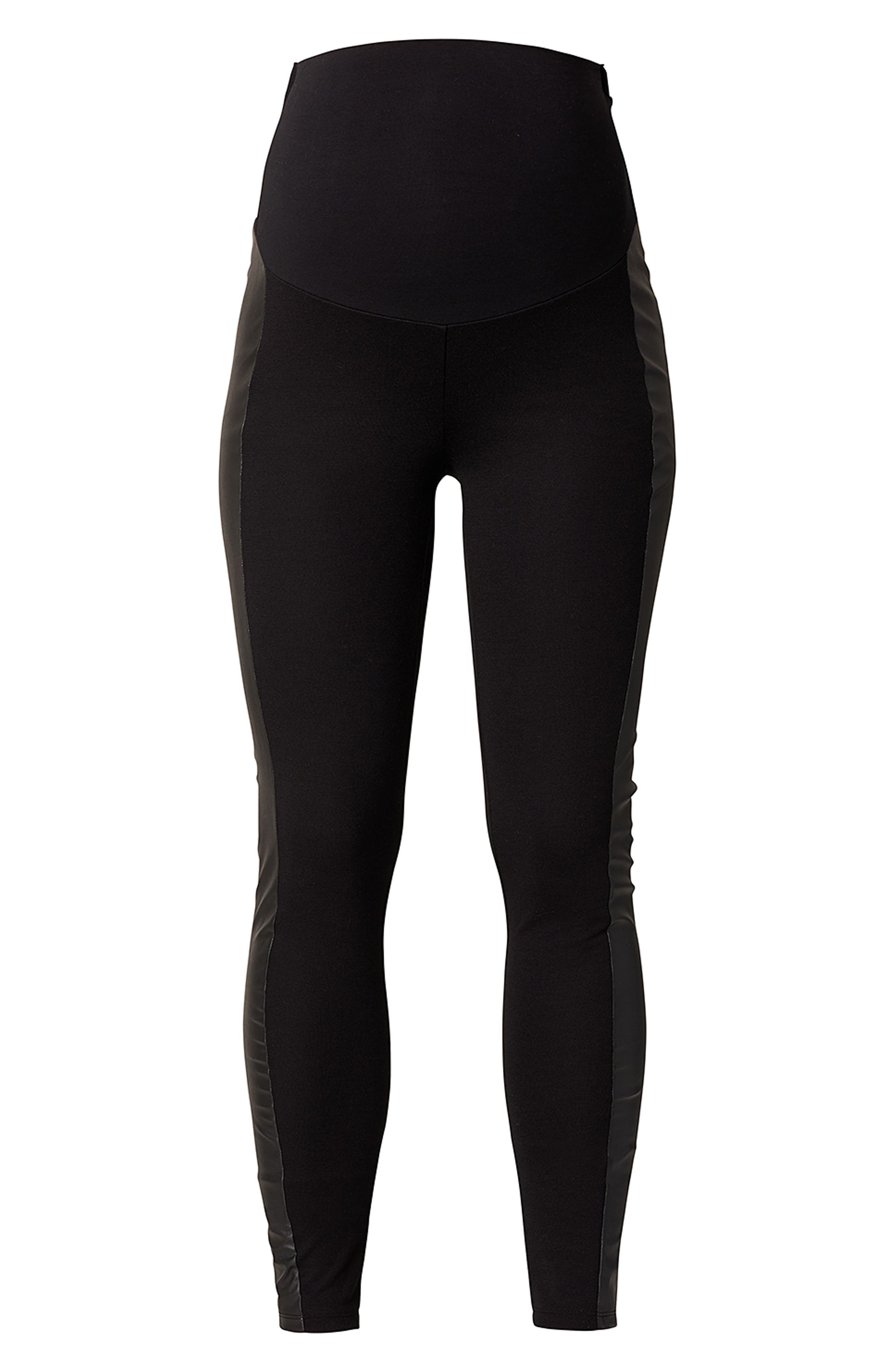 Over the Belly Maternity Leggings,                         Main,                         color, Black