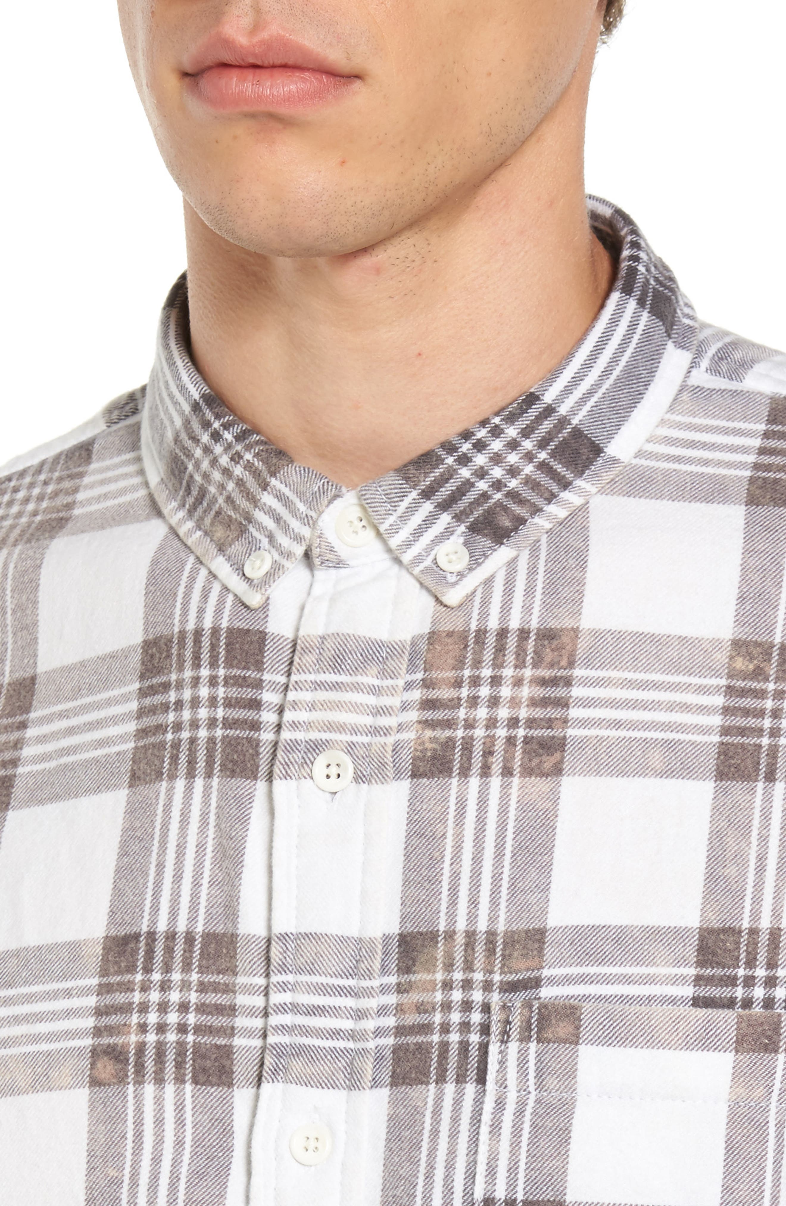 Alternate Image 4  - The Rail Bleach Plaid Shirt