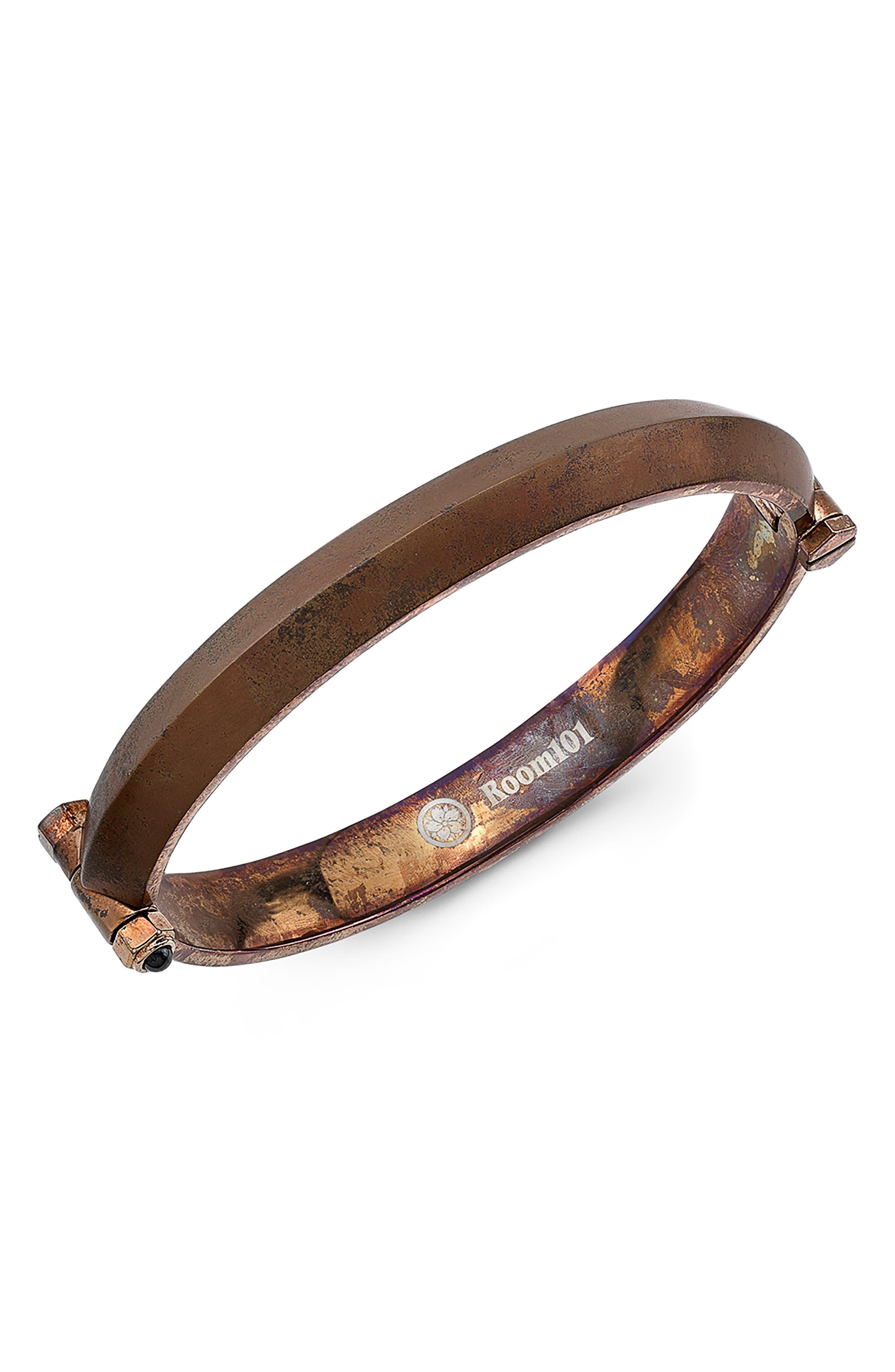 Blade Bangle Bracelet,                         Main,                         color, Rust