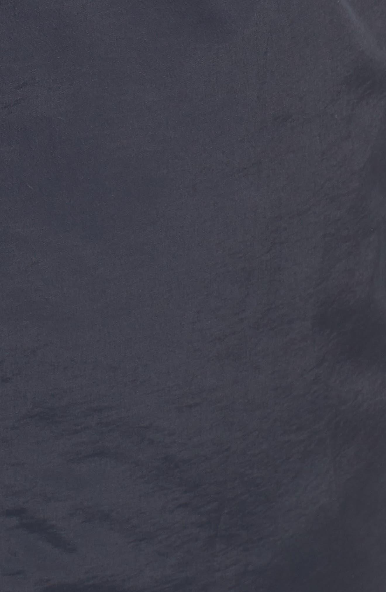 Hooded Fleece Lined Raincoat,                             Alternate thumbnail 5, color,                             Marine Navy