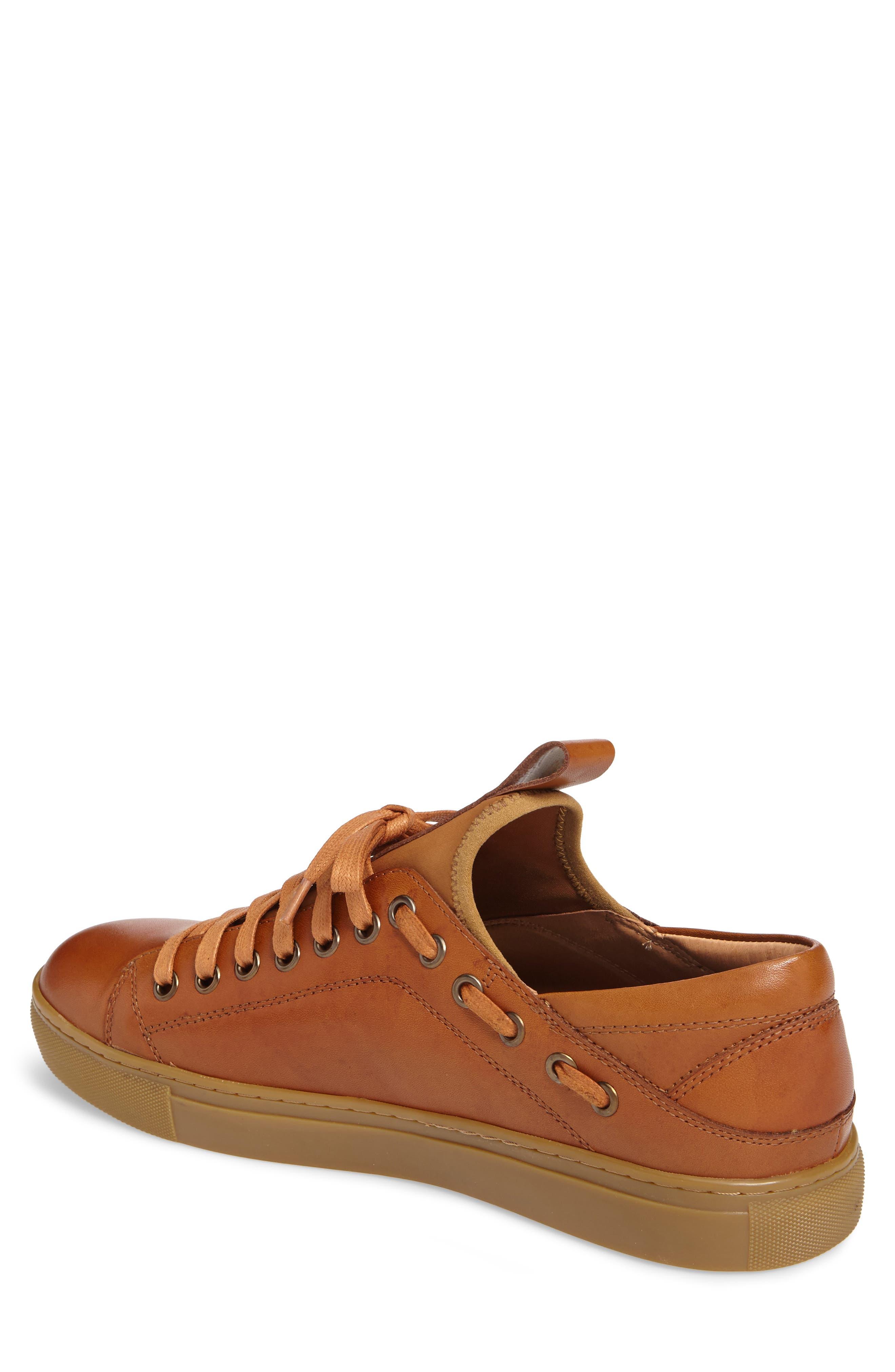 Owen Sneaker,                             Alternate thumbnail 2, color,                             Cognac Leather