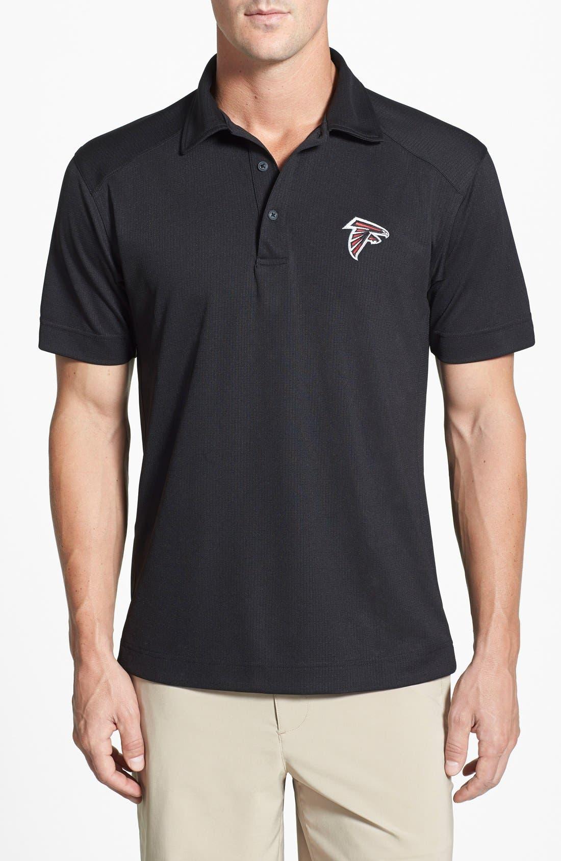 Atlanta Falcons - Genre DryTec Moisture Wicking Polo,                             Main thumbnail 1, color,                             Black