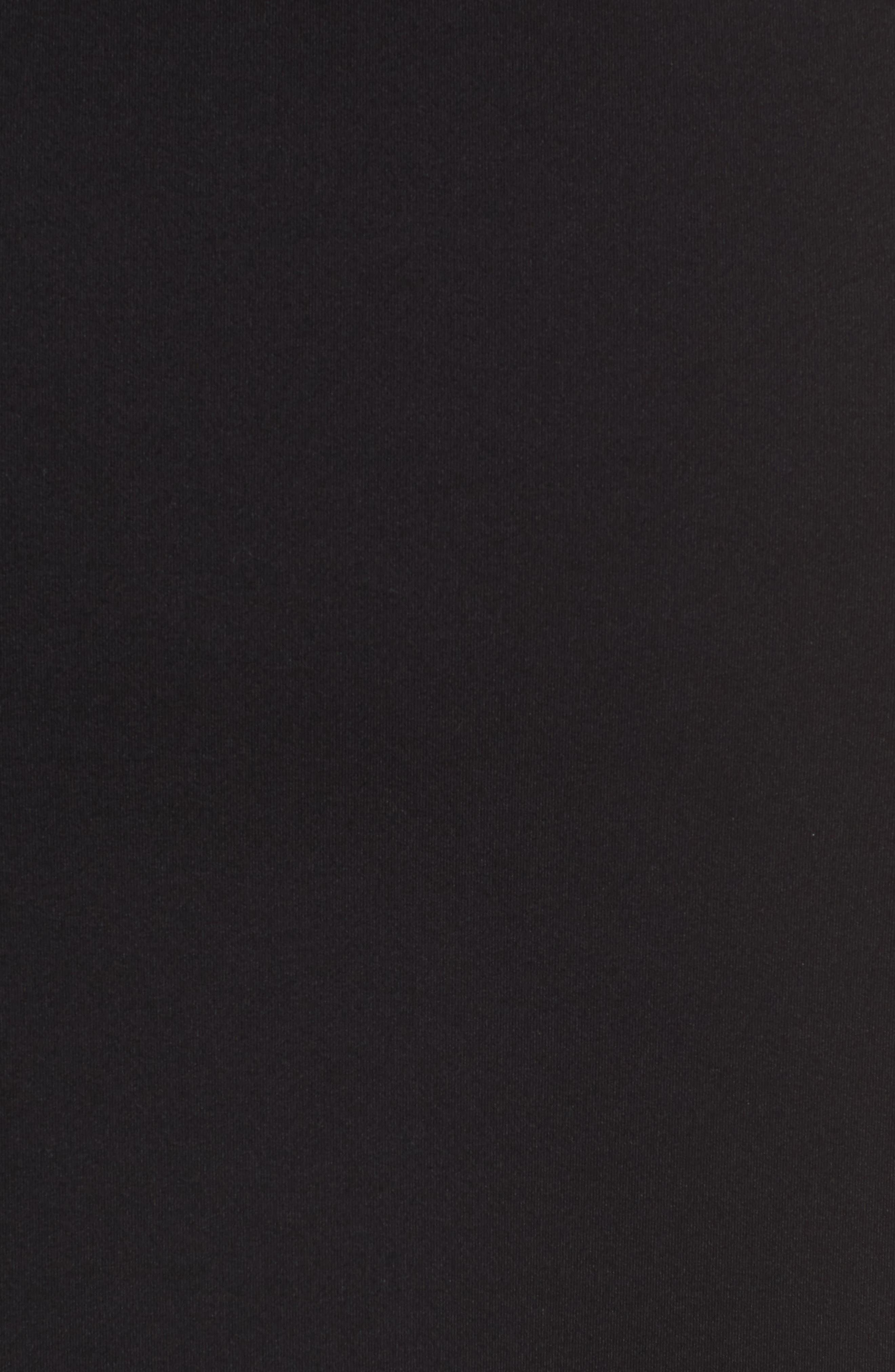 Side Zip Pencil Skirt,                             Alternate thumbnail 6, color,                             Black