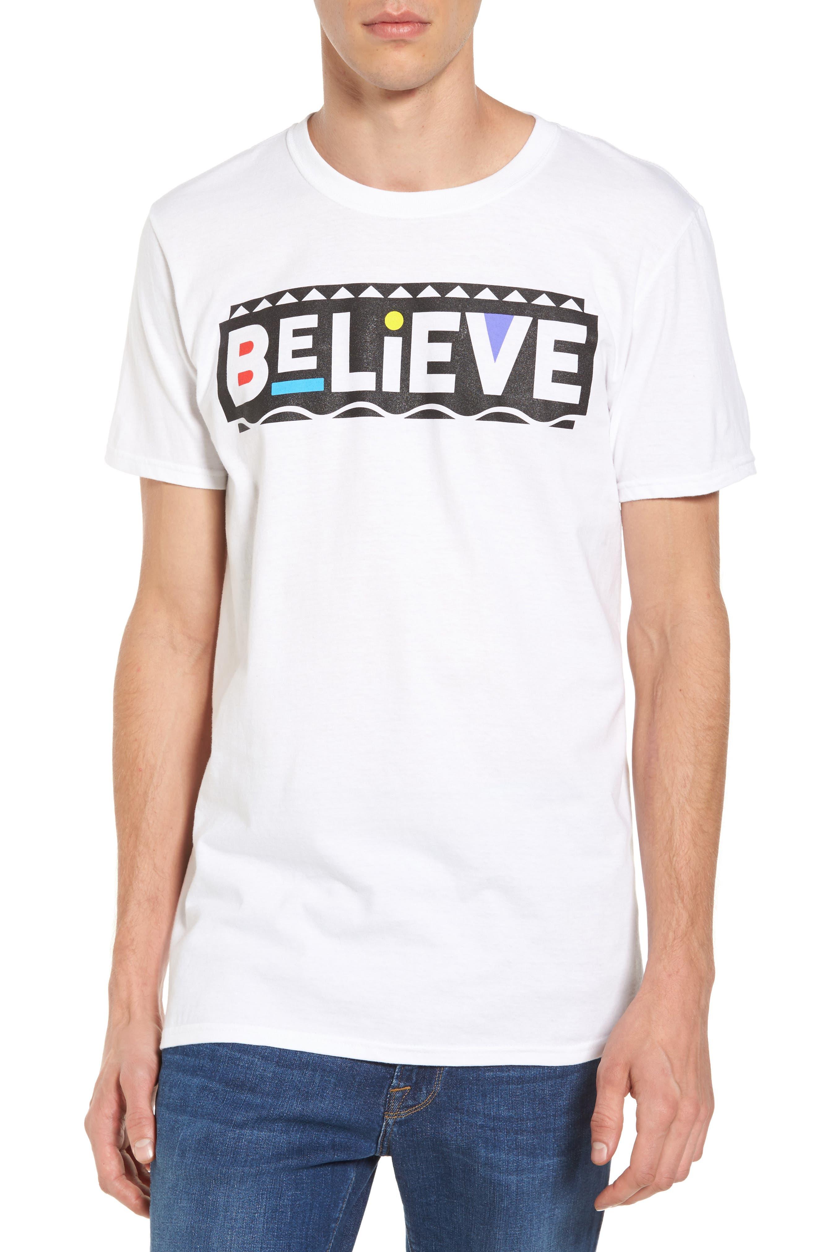 Believe T-Shirt,                         Main,                         color, White
