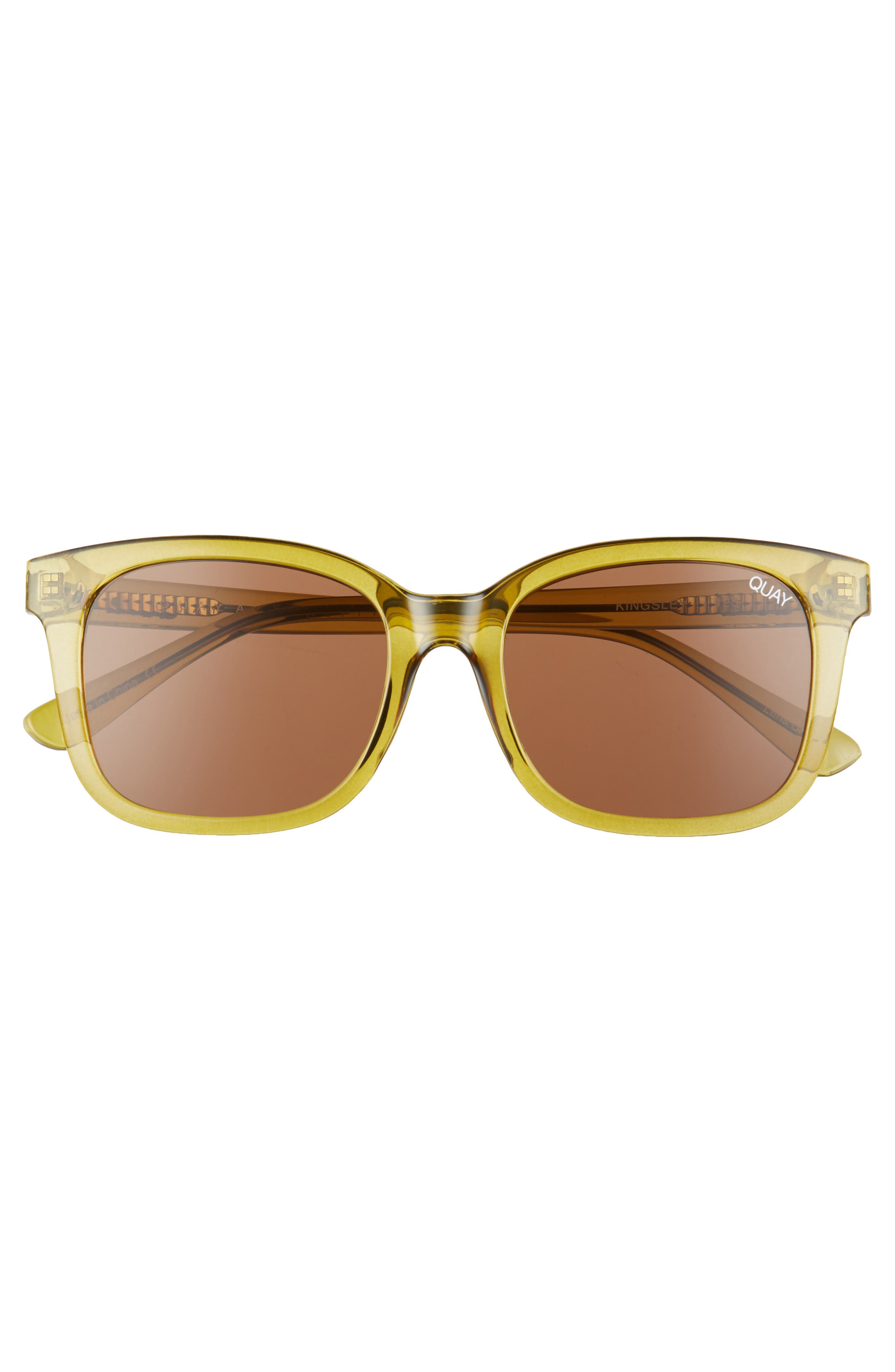 Kingsley 52mm Sunglasses,                             Alternate thumbnail 2, color,                             Olive/ Brown