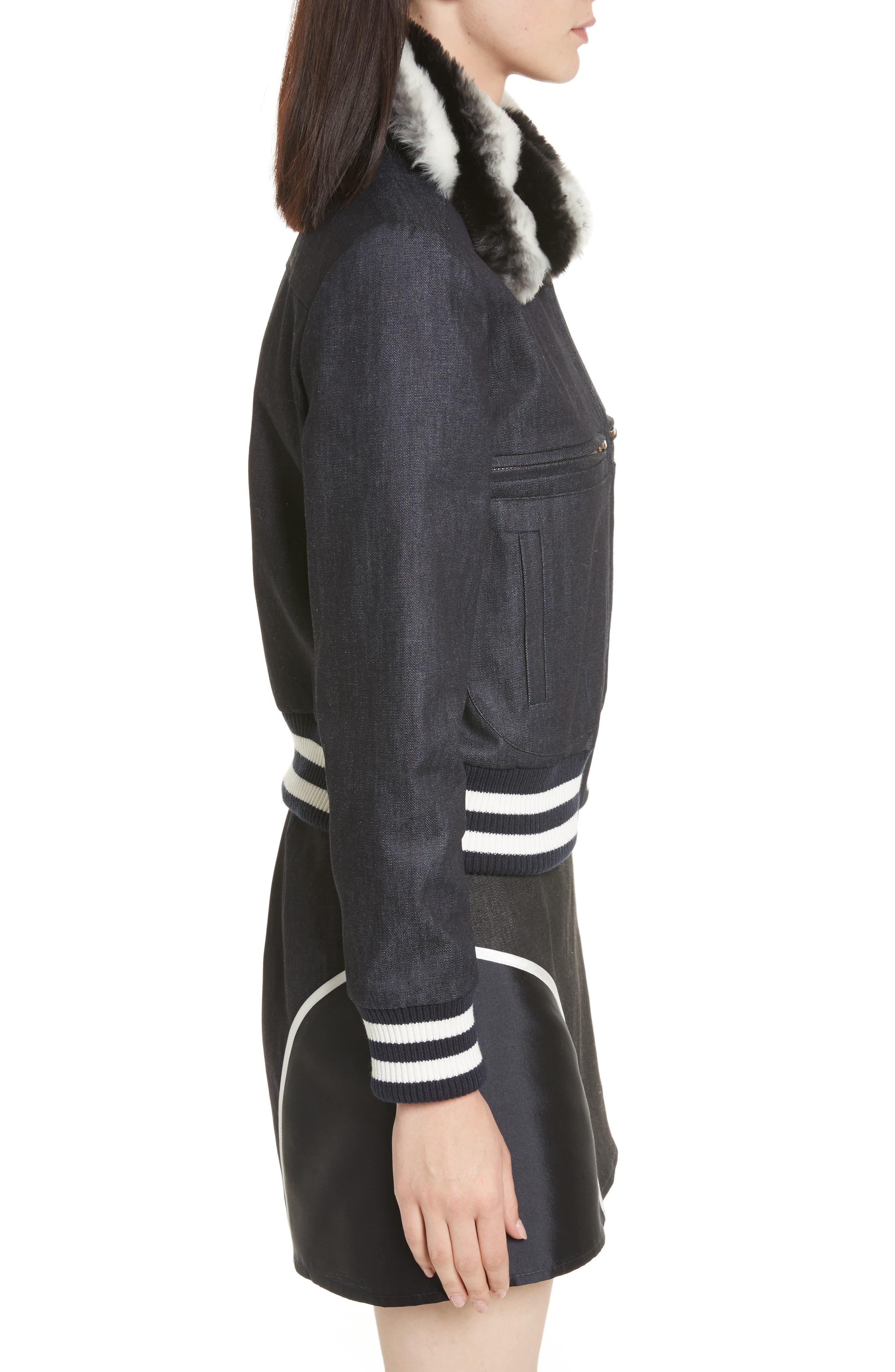 Alternate Image 3  - Harvey Faircloth Faux Fur Collar Bomber Jacket
