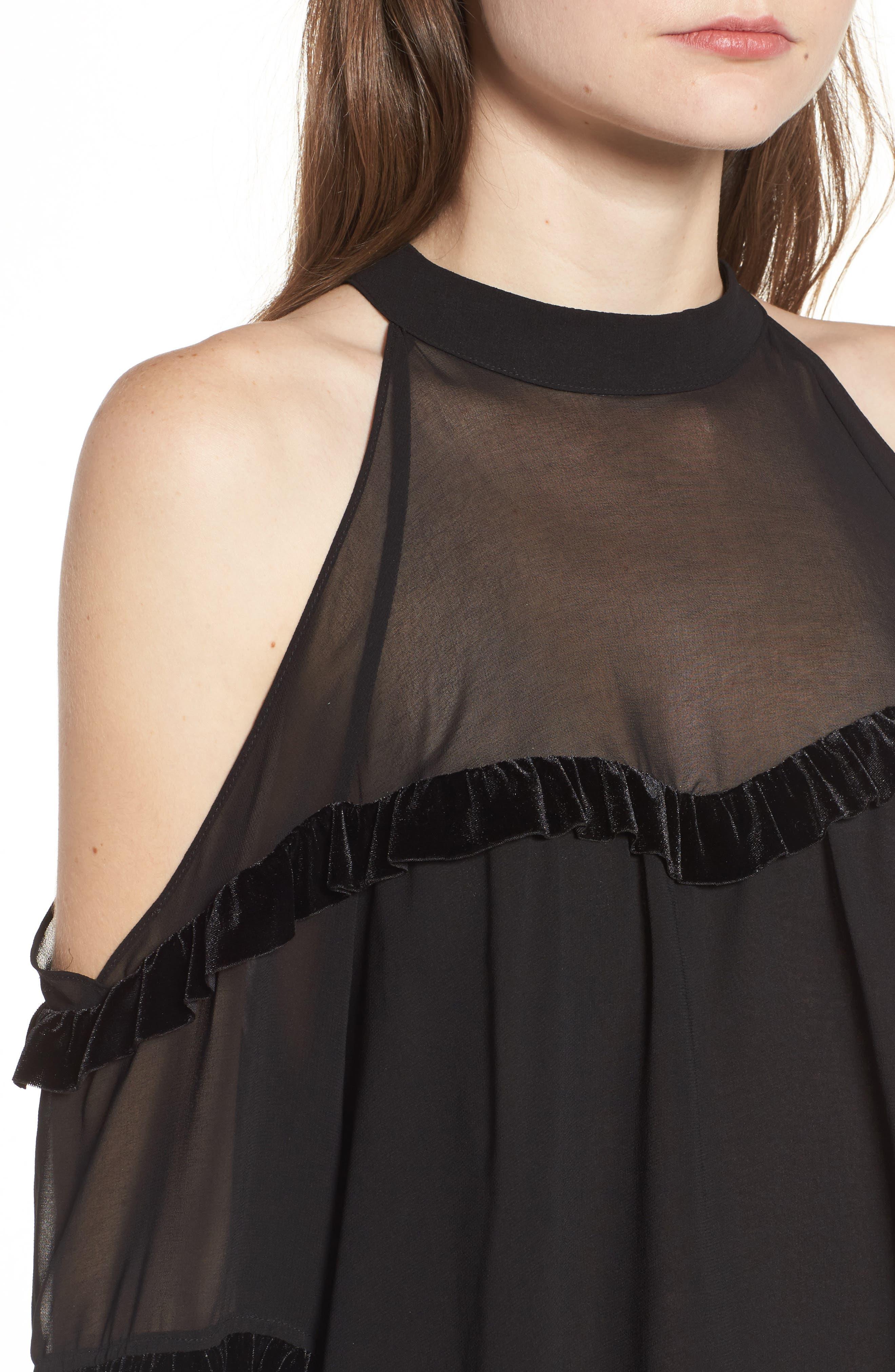 Alternate Image 4  - MISA Los Angeles Pippa Cold Shoulder Top