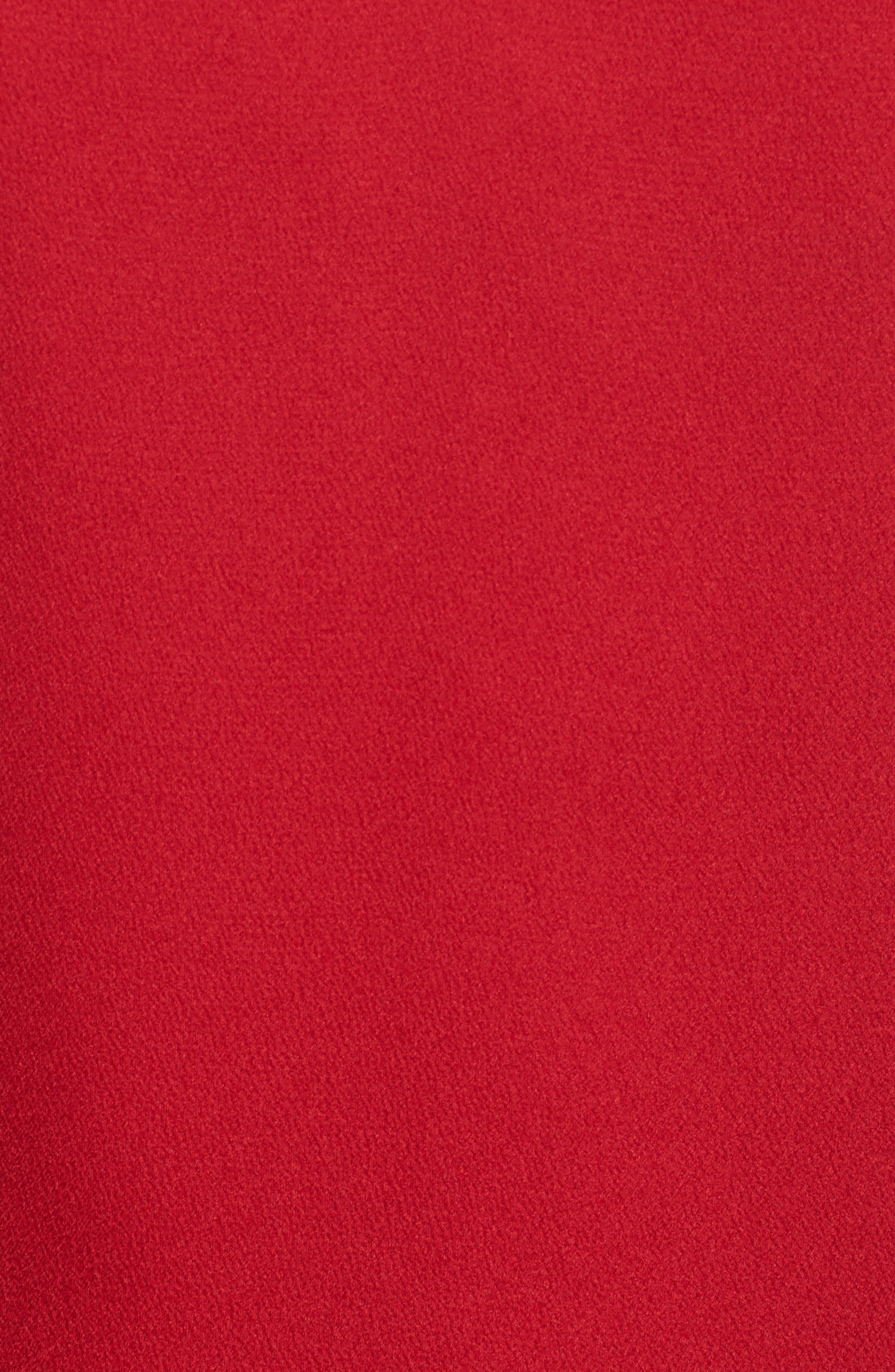 Palladium Shark Bite Hem Dress,                             Alternate thumbnail 5, color,                             Ruby
