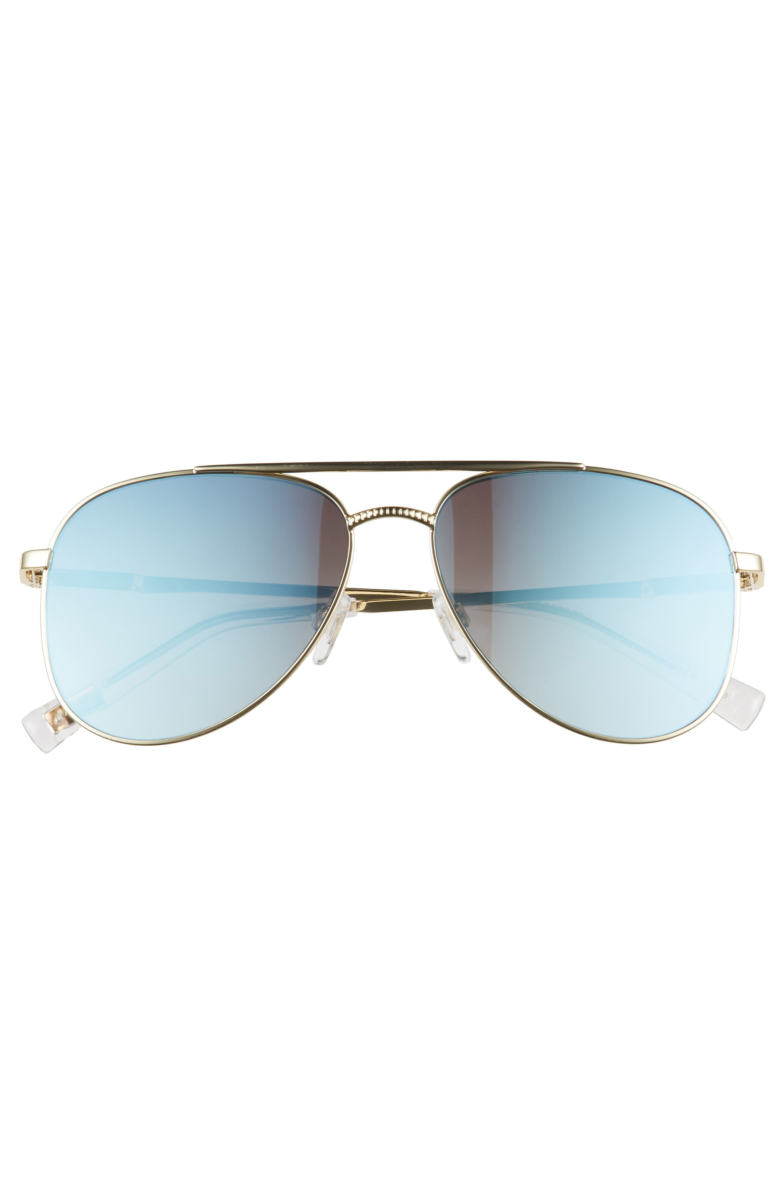 Kingdom 57mm Polarized Aviator Sunglasses,                             Alternate thumbnail 3, color,                             Bright Gold