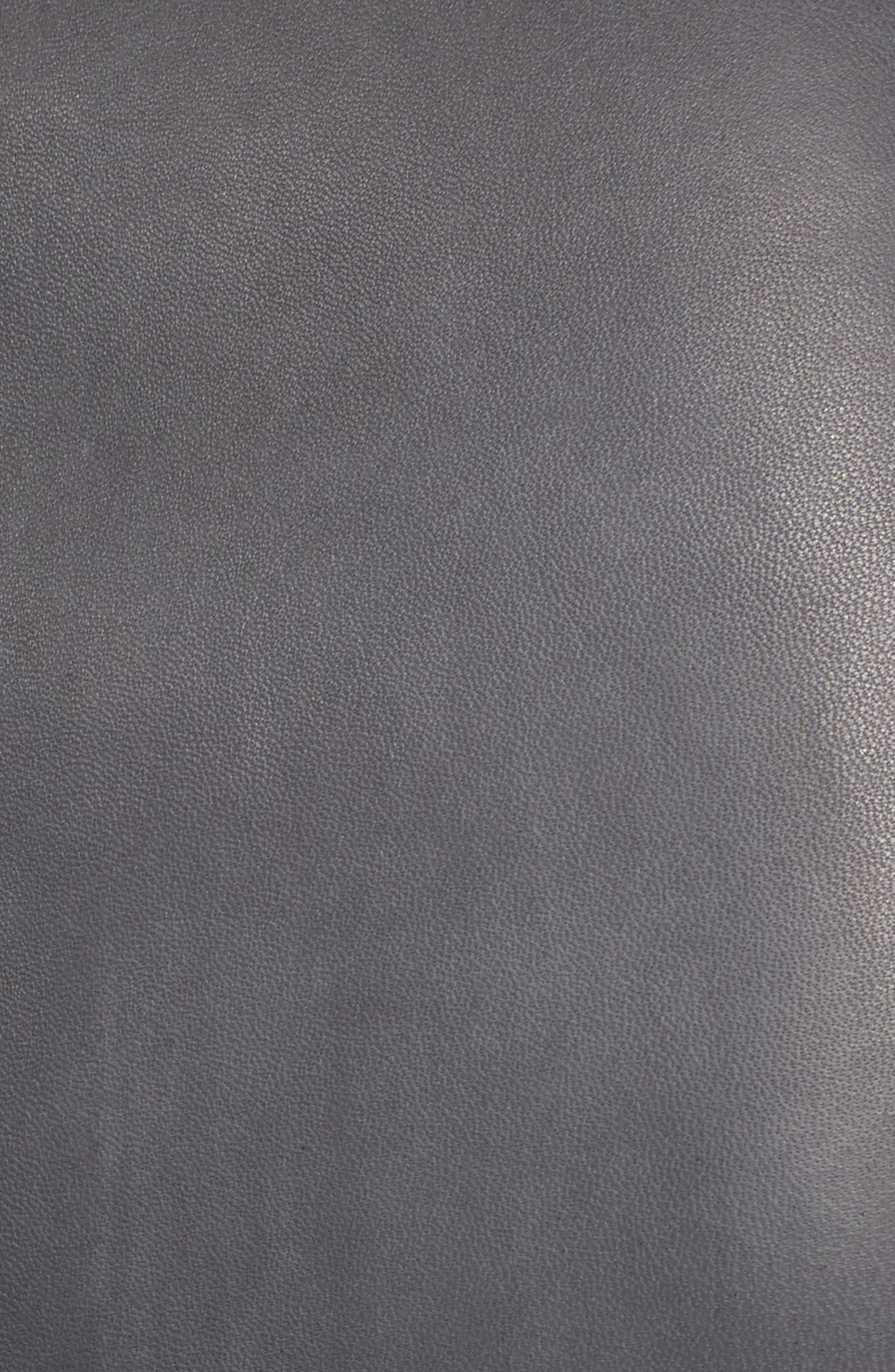 Alternate Image 5  - Nordstrom Signature Cascade Front Leather Jacket