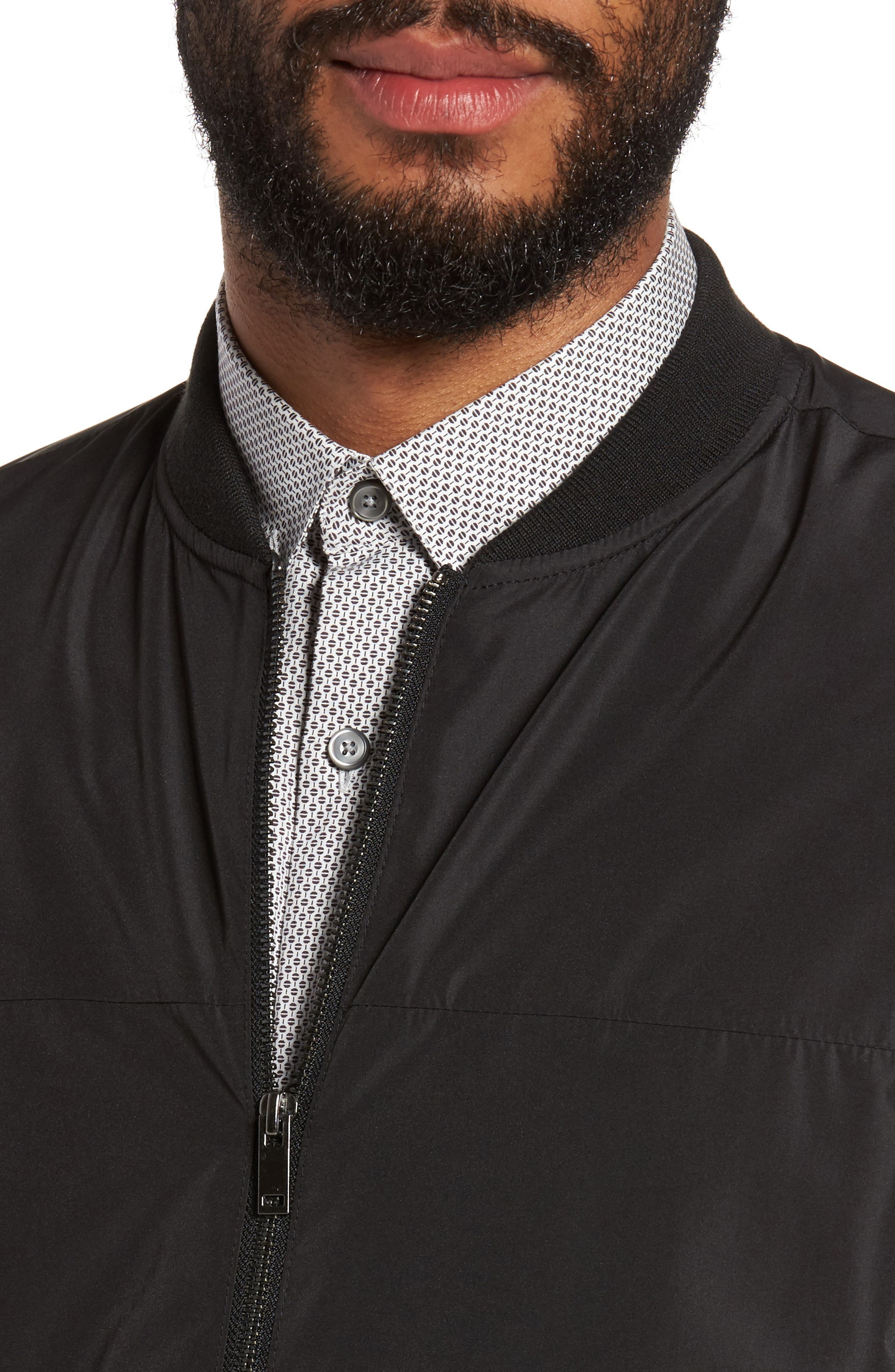 Lightweight Bomber Jacket,                             Alternate thumbnail 4, color,                             Black