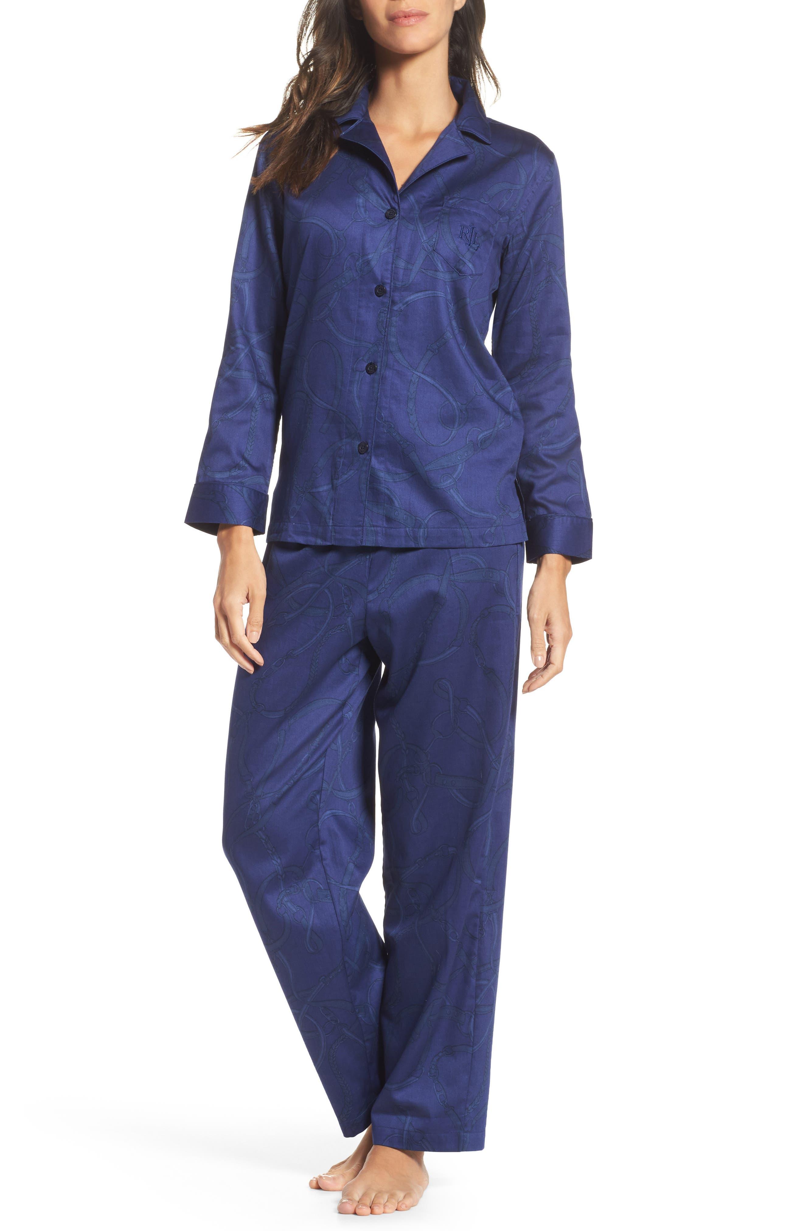 Alternate Image 1 Selected - Lauren Ralph Lauren Cotton Pajamas