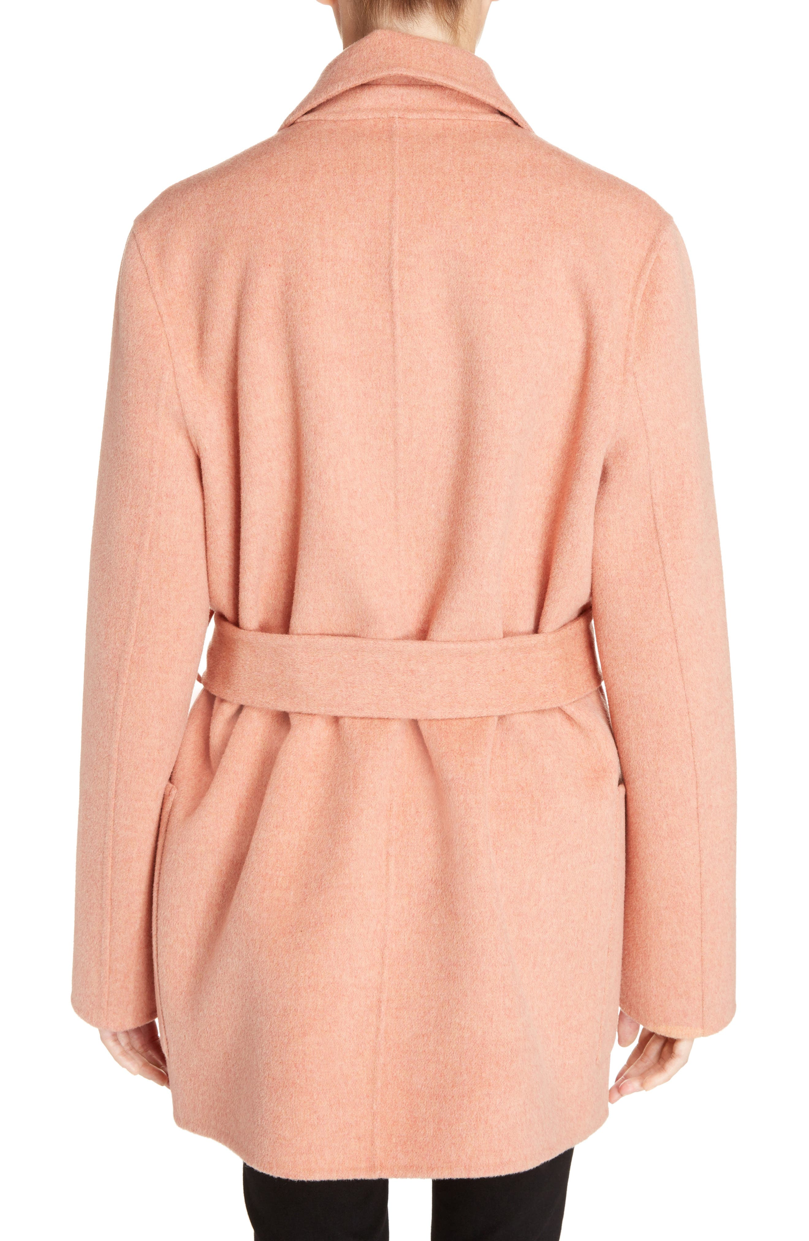 Anika Doublé Wool & Cashmere Coat,                             Alternate thumbnail 2, color,                             Rose Melange