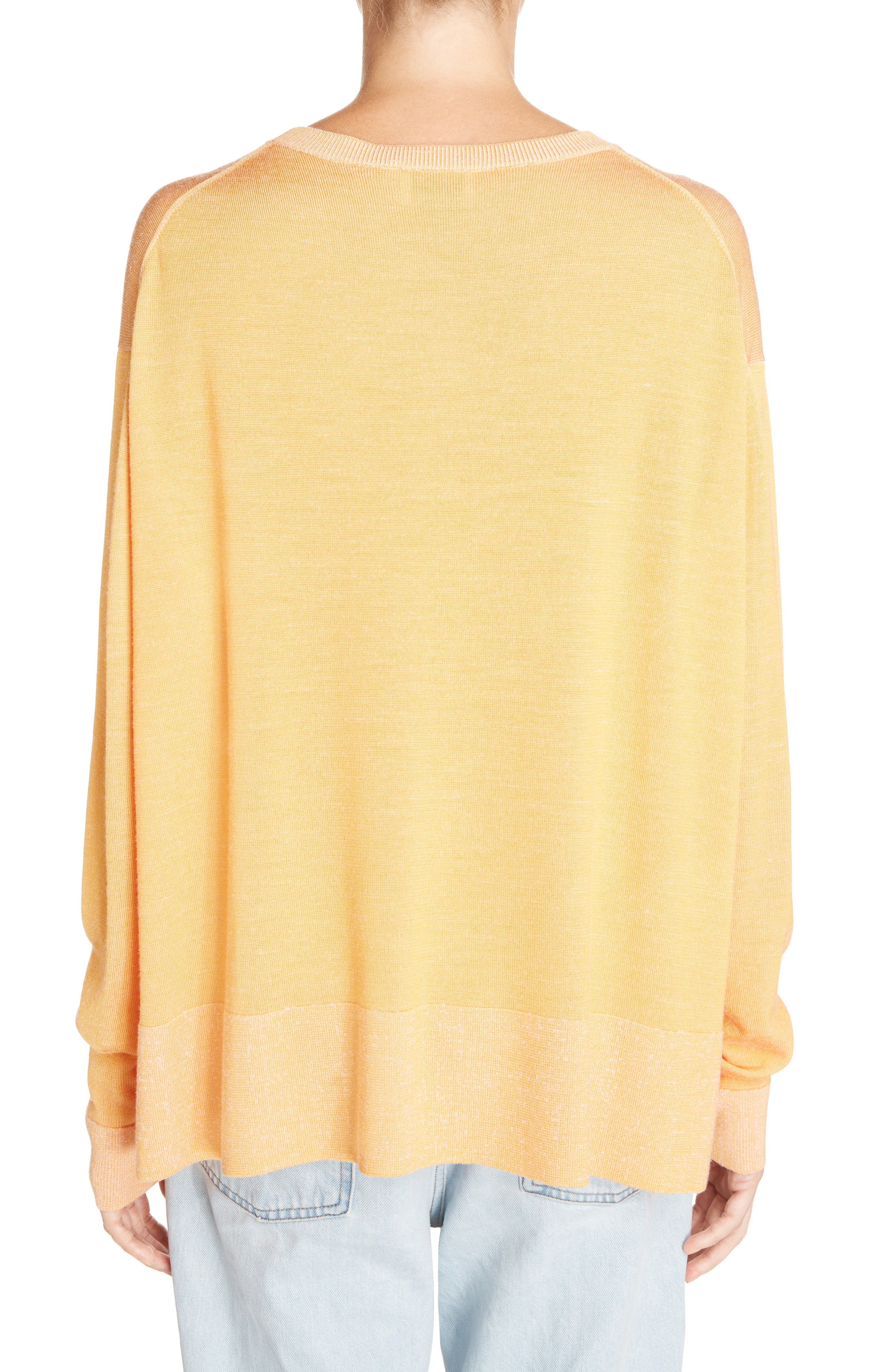 Finola 2-Tone Sweater,                             Alternate thumbnail 2, color,                             Orange