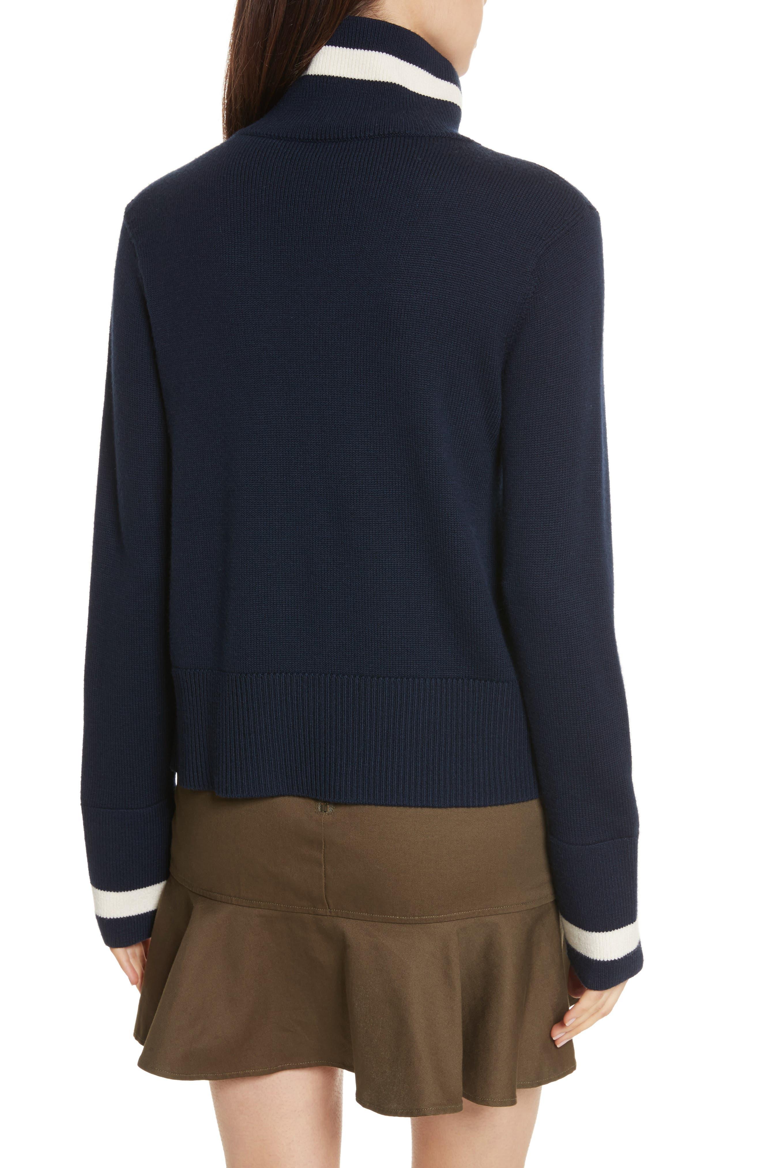 Alternate Image 2  - Veronica Beard Pia Floral Turtleneck Sweater