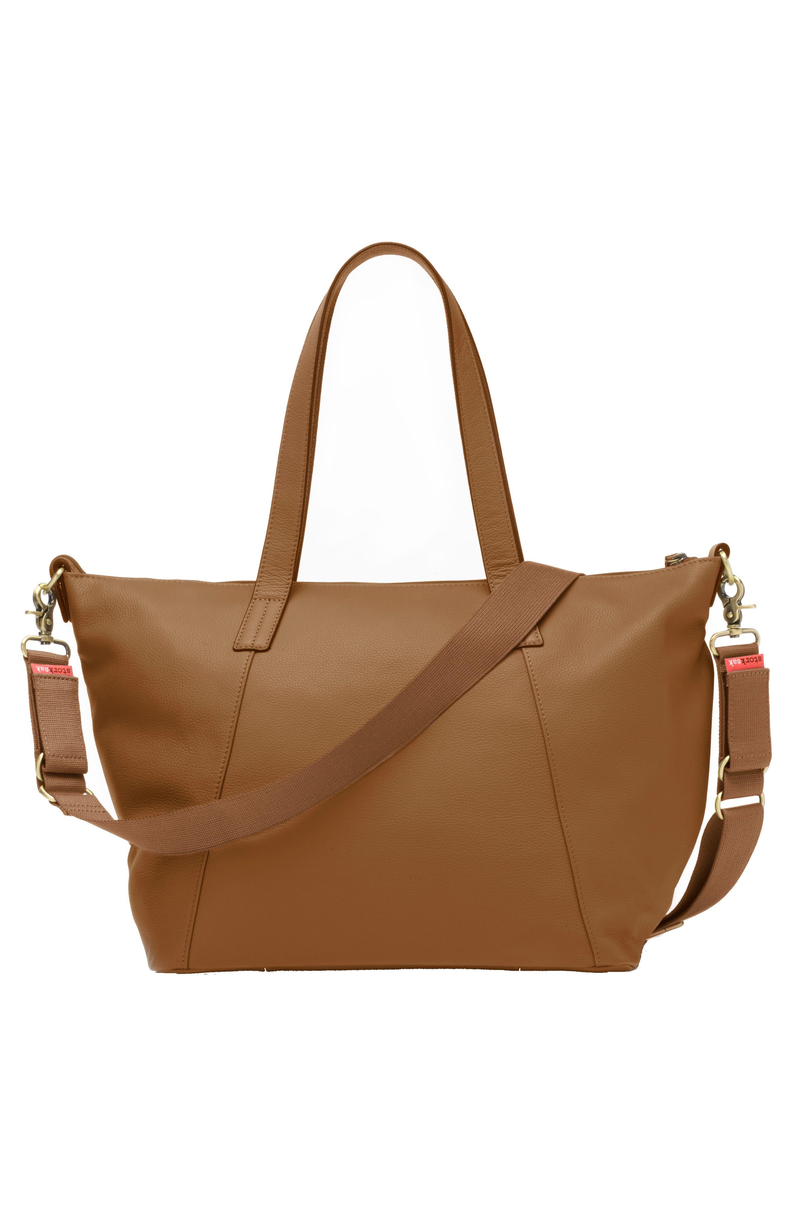 Alternate Image 5  - Storksak NOA Leather Diaper Bag