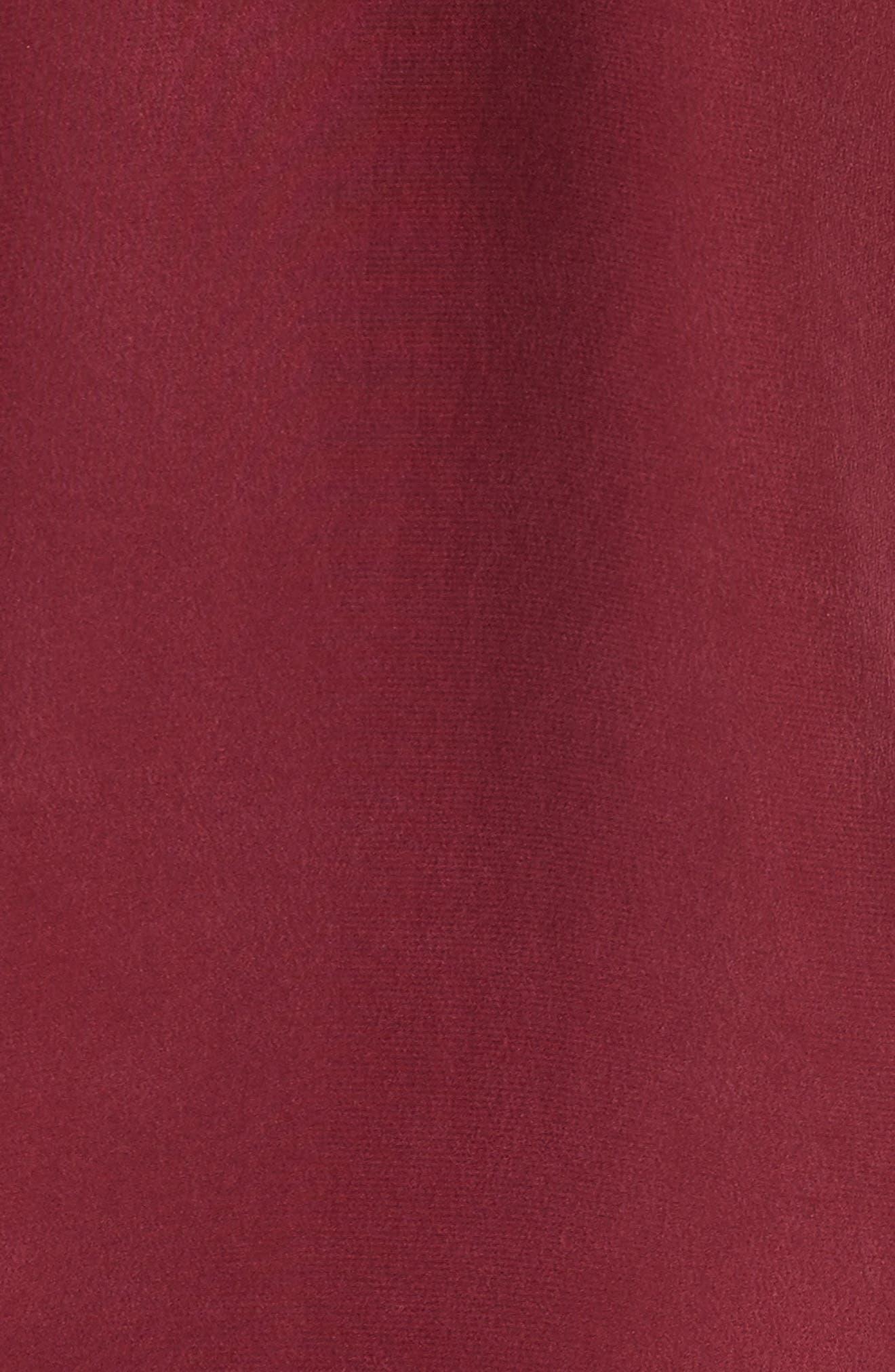 Drape Silk Satin Cami,                             Alternate thumbnail 7, color,                             Wine