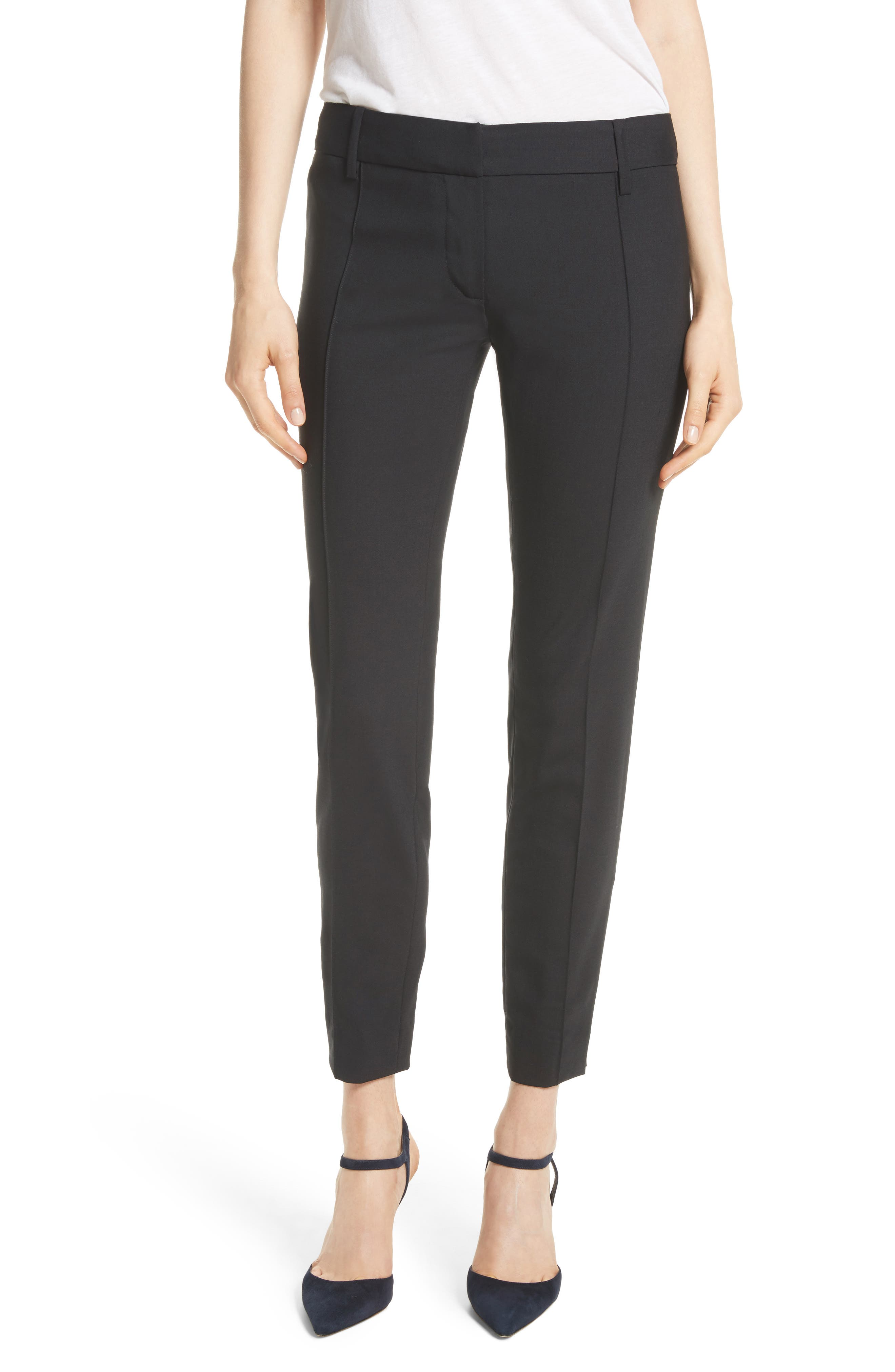 Nahla Ankle Pants,                         Main,                         color, Black