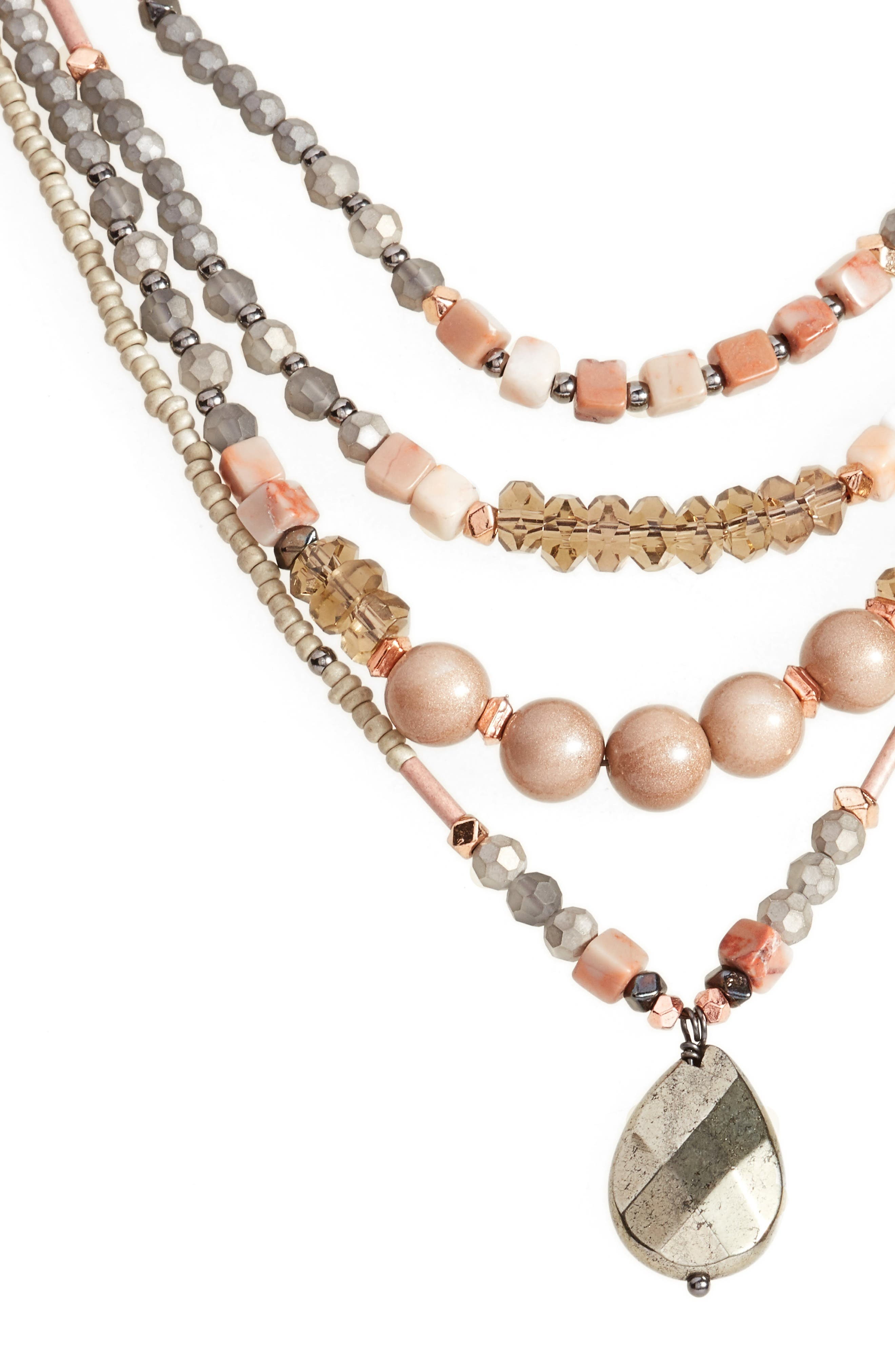 Multistrand Necklace,                             Alternate thumbnail 2, color,                             Nude