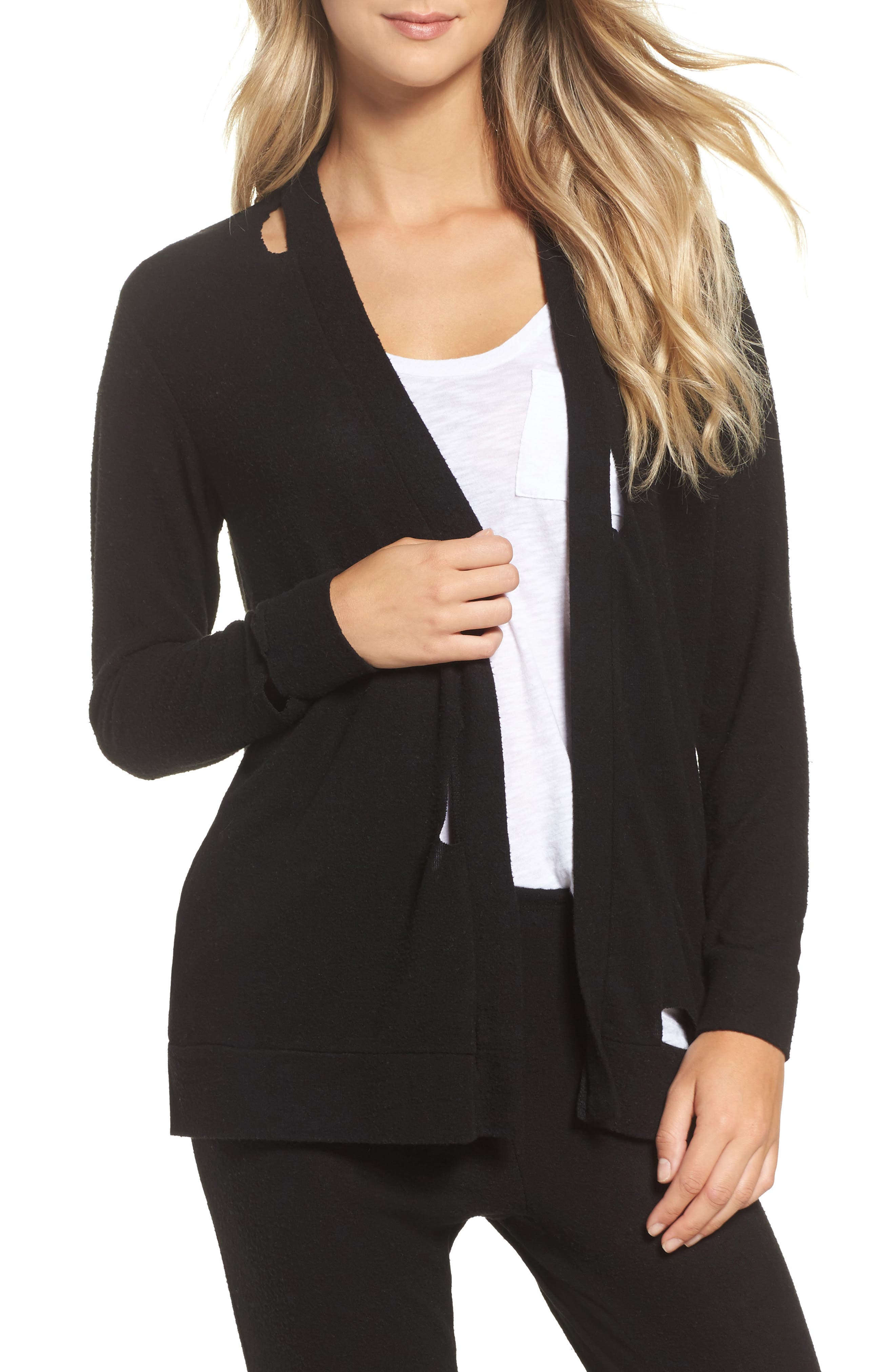 Chaser Love Knit Deconstructed Cardigan