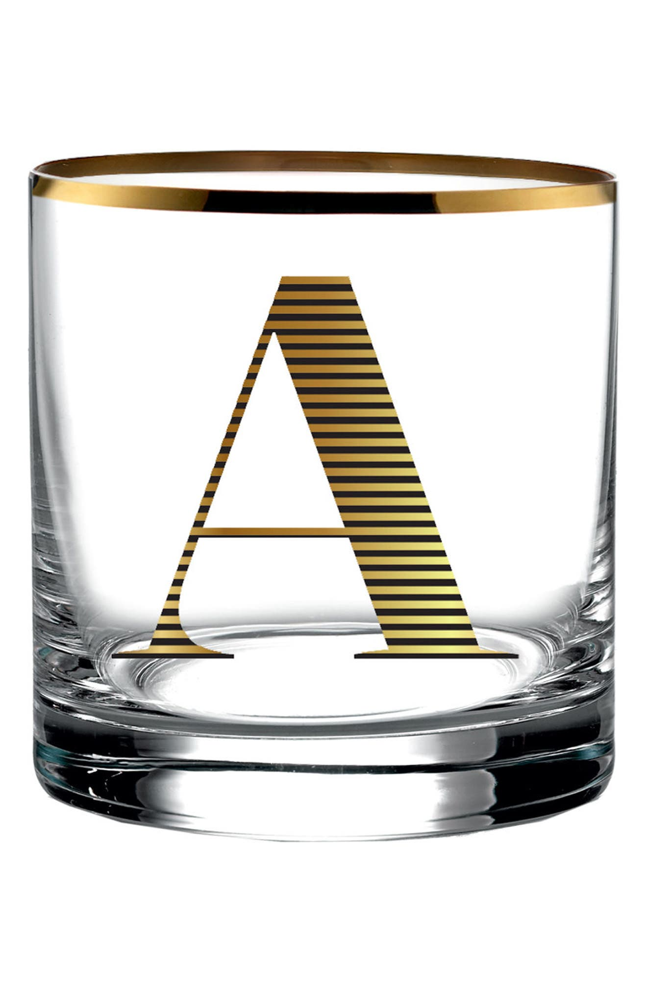 Main Image - American Atelier Monogram Old Fashioned Glass
