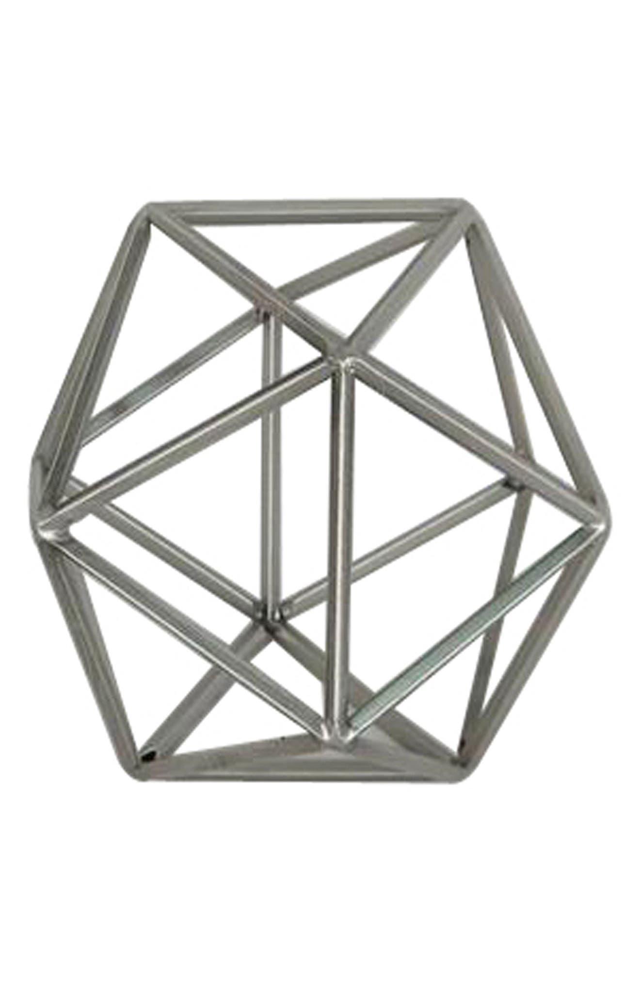 Wire Sculpture,                         Main,                         color, Metallic Silver