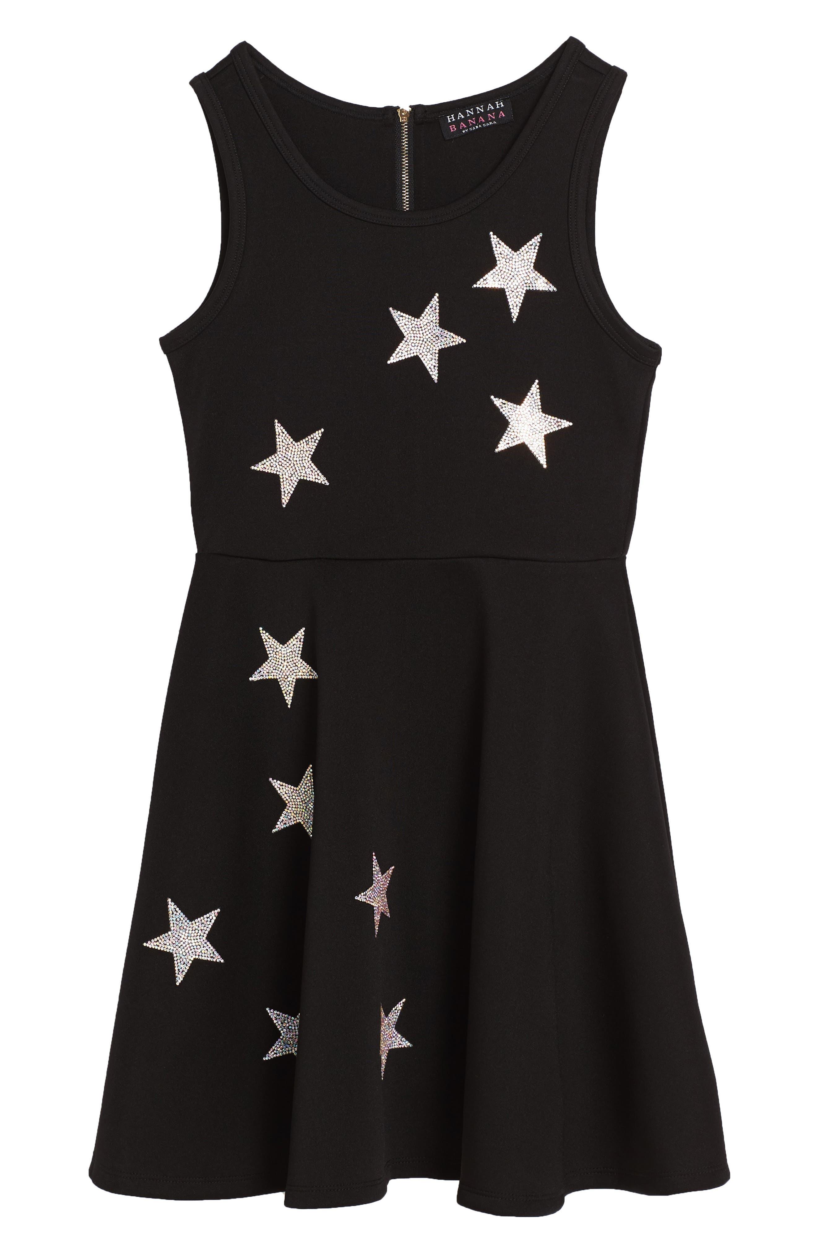 Main Image - Hannah Banana Star Embellished Dress (Big Girls)