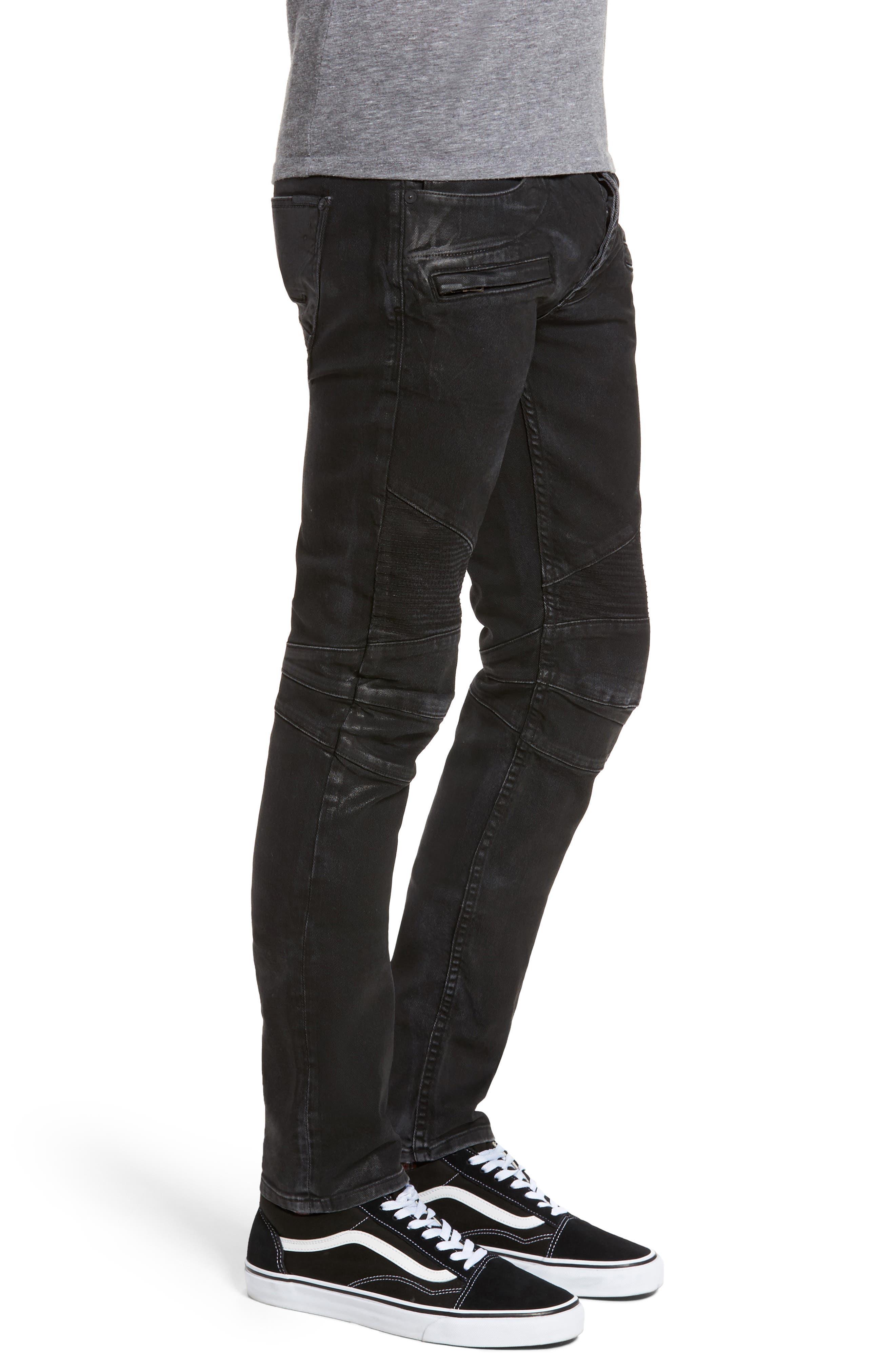 Alternate Image 3  - Hudson Jeans Blinder Biker Skinny Fit Jeans (Skeme)