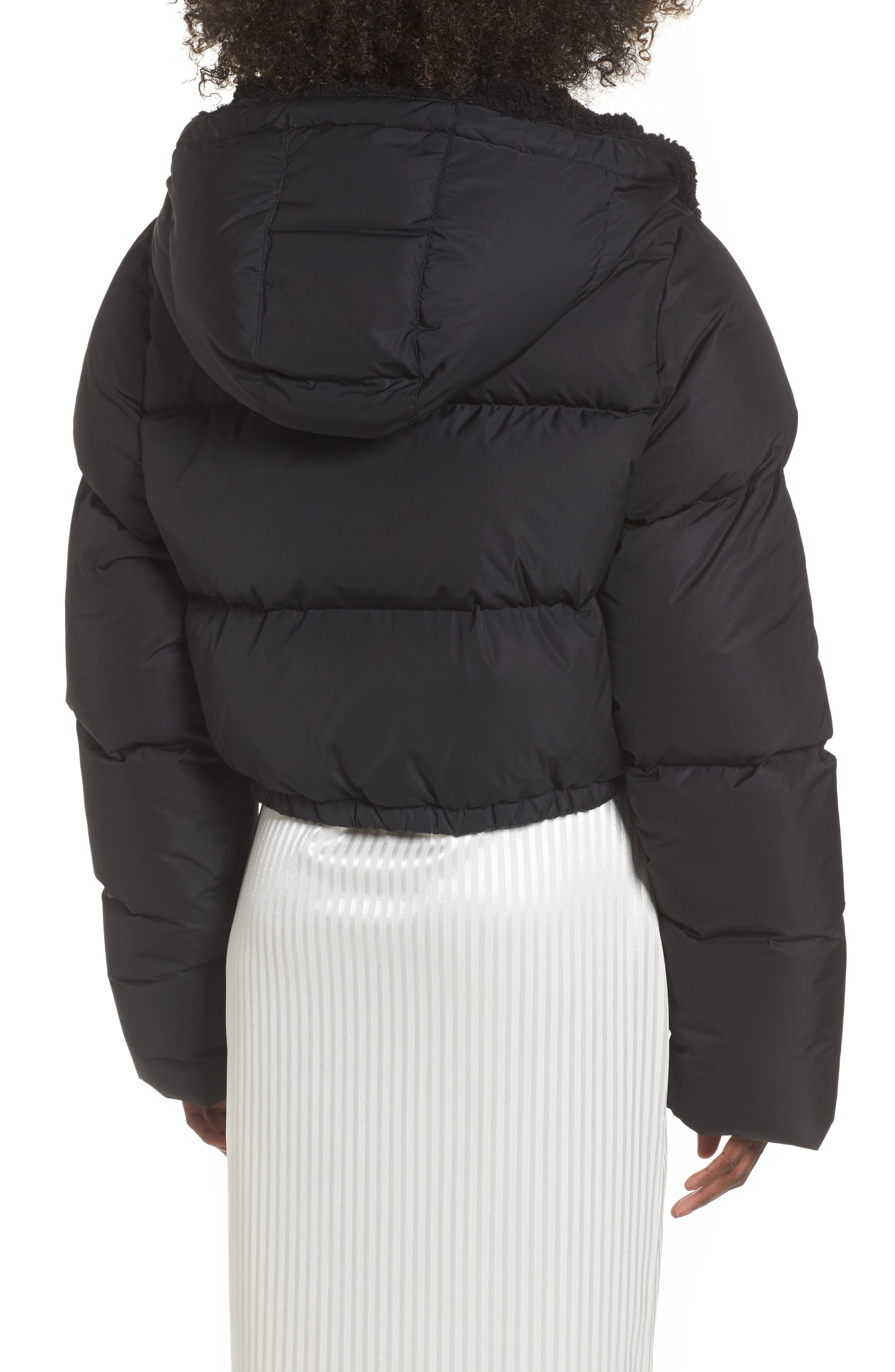 FENTY PUMA by Rihanna Quilted Bomber,                             Alternate thumbnail 2, color,                             Puma Black