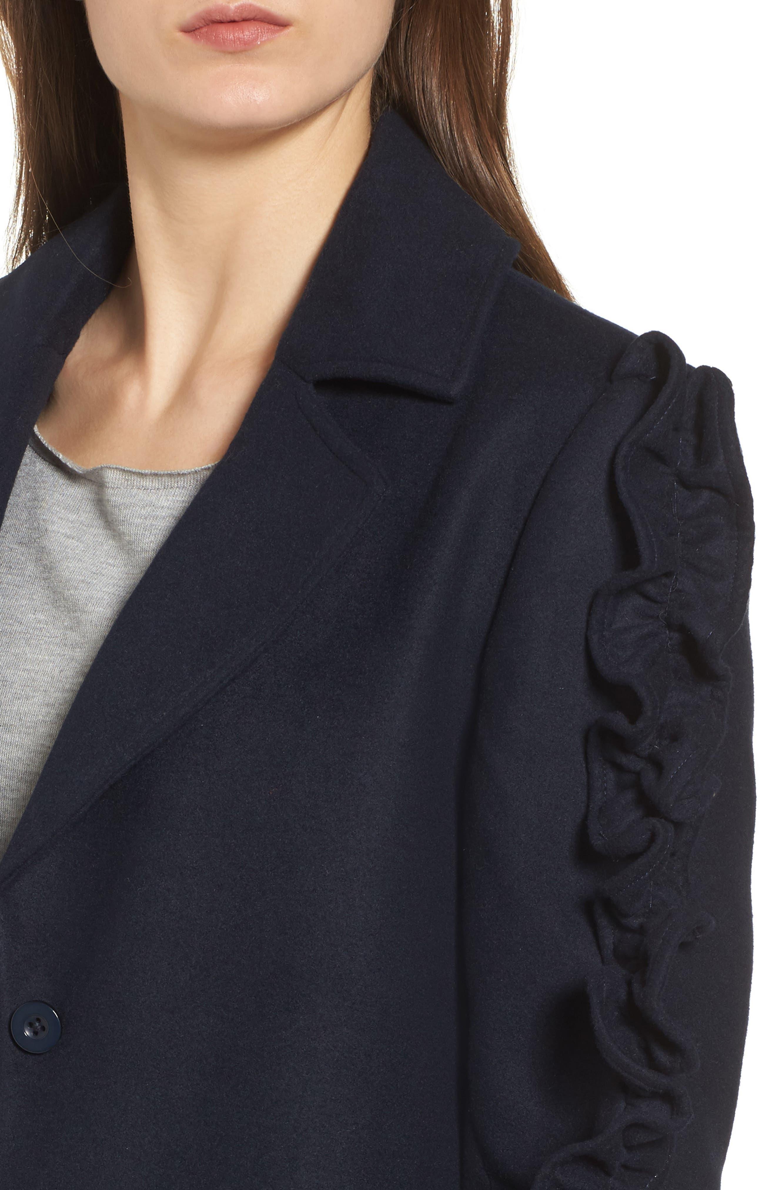 Alternate Image 5  - The Fifth Label Narrative Ruffle Sleeve Coat