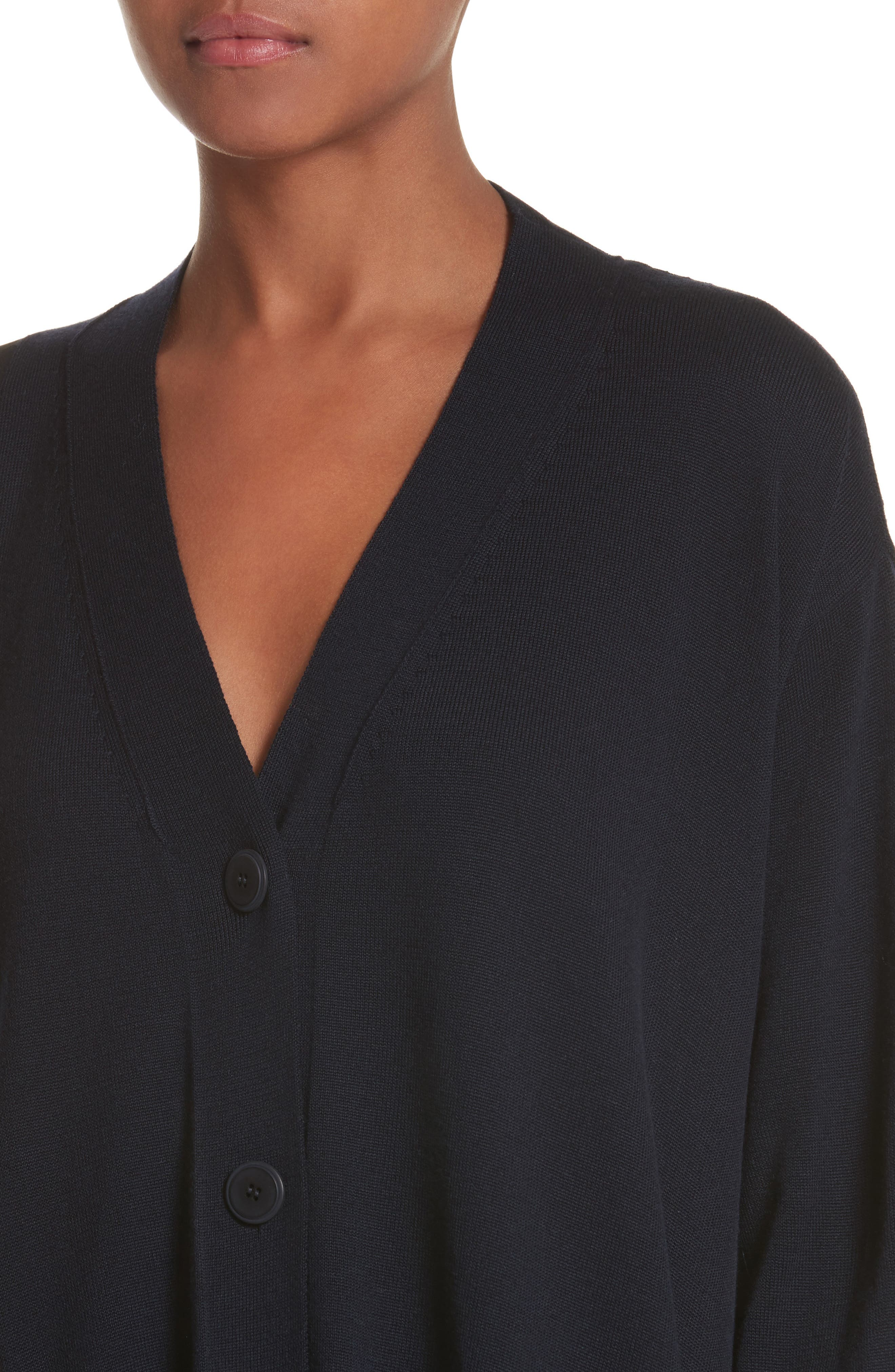 Alternate Image 4  - Stella McCartney Virgin Wool Cardigan with Silk Inset