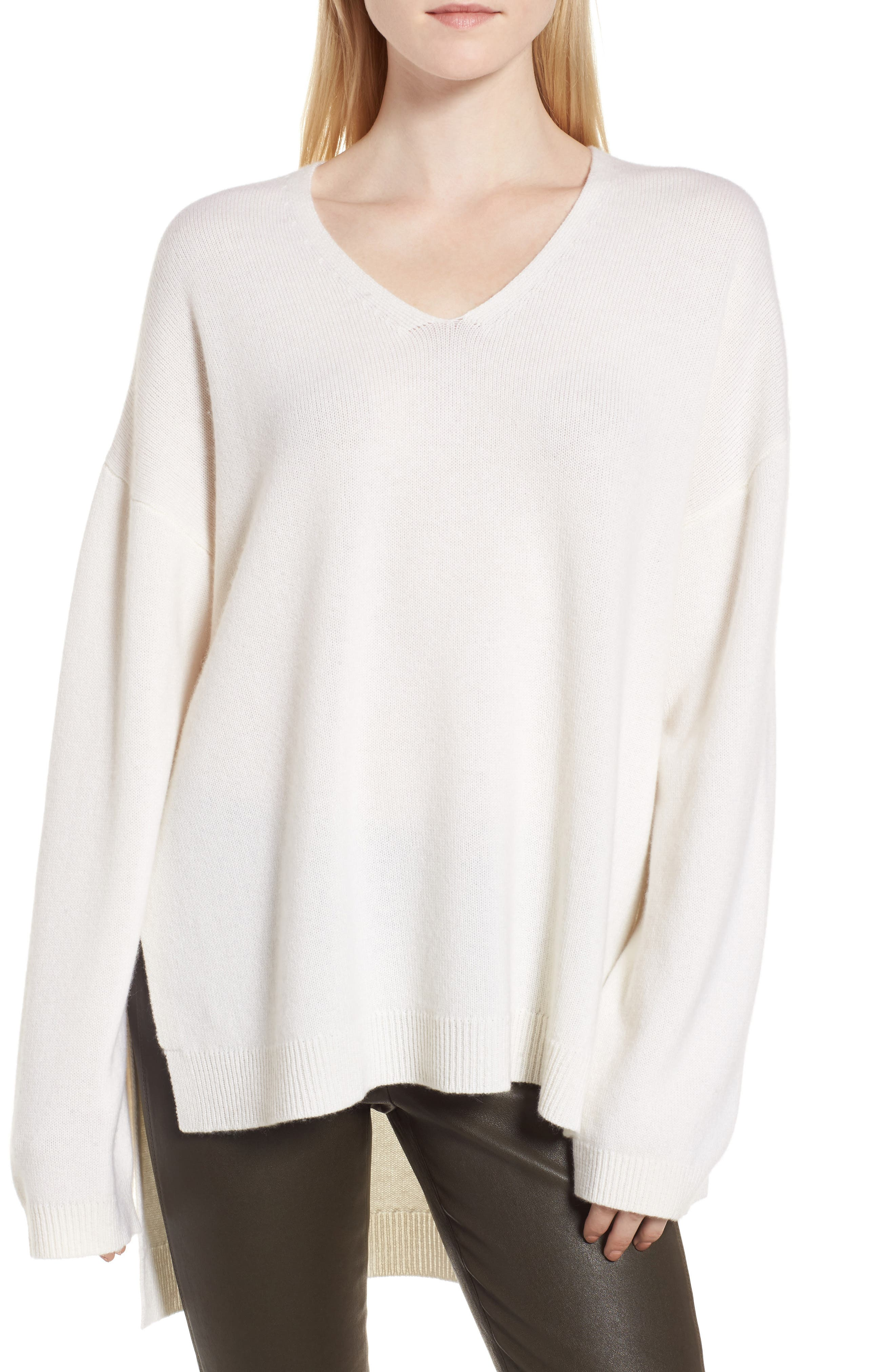 Nordstrom Signature Cashmere High/Low Tunic Sweater
