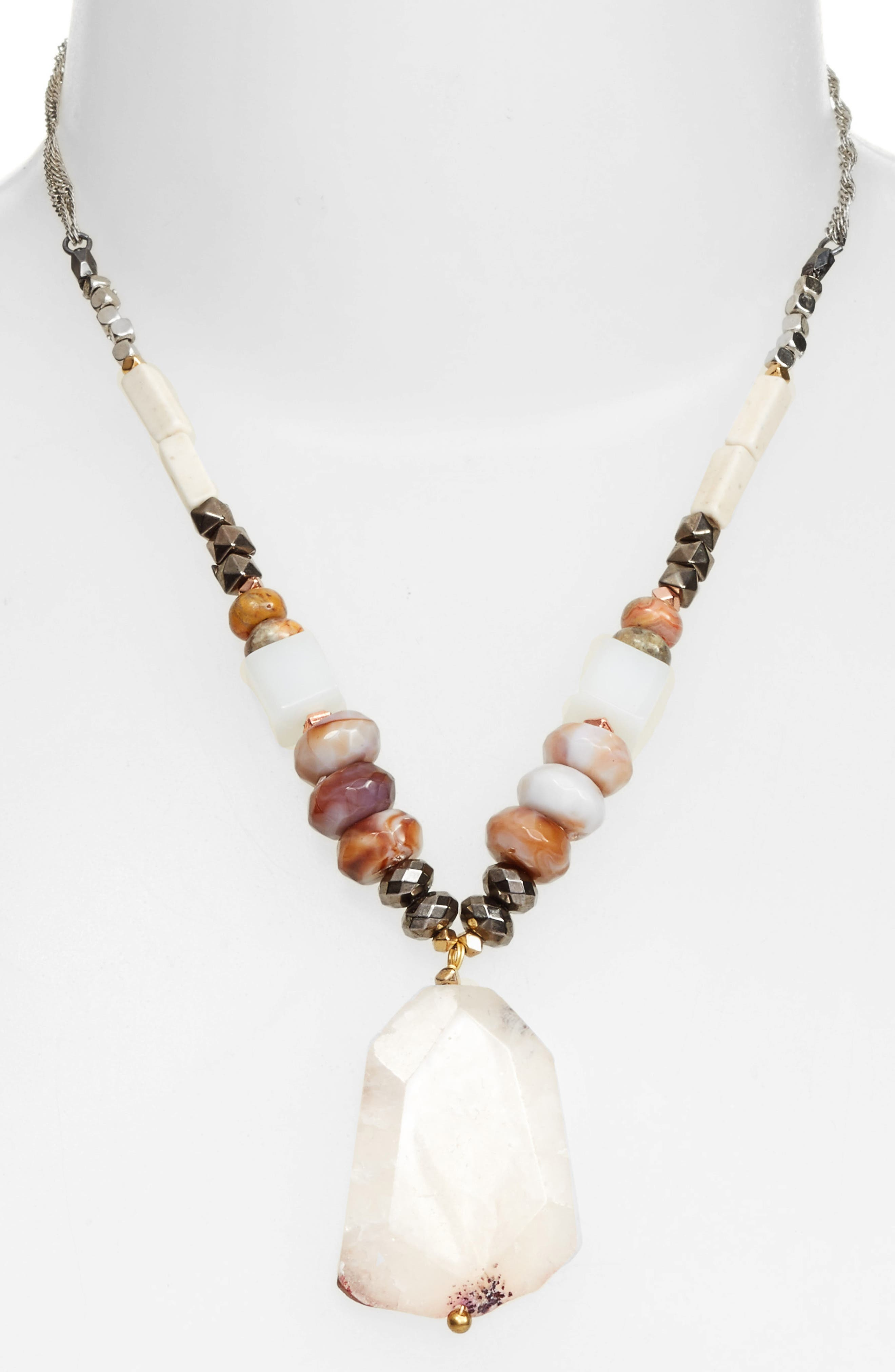 Nakamol Design Agate Pendant Necklace