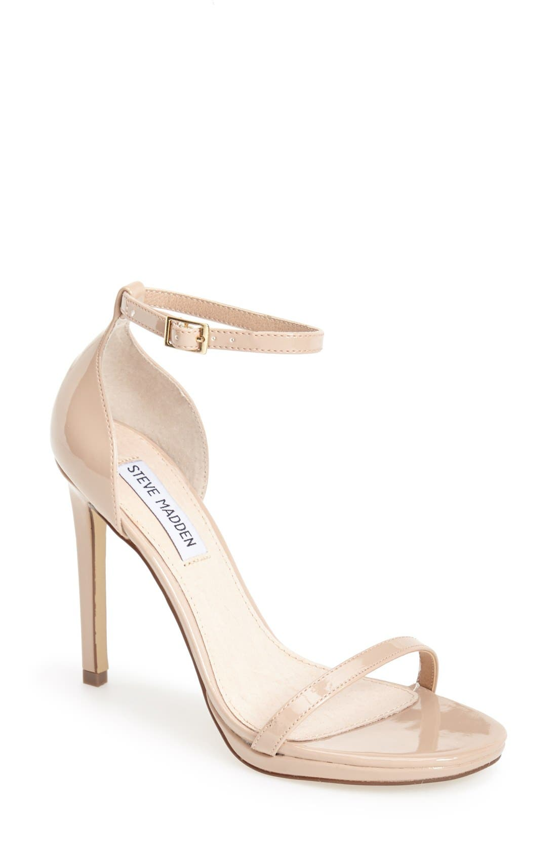 Alternate Image 1 Selected - Steve Madden 'Gea' Ankle Strap Sandal (Women)