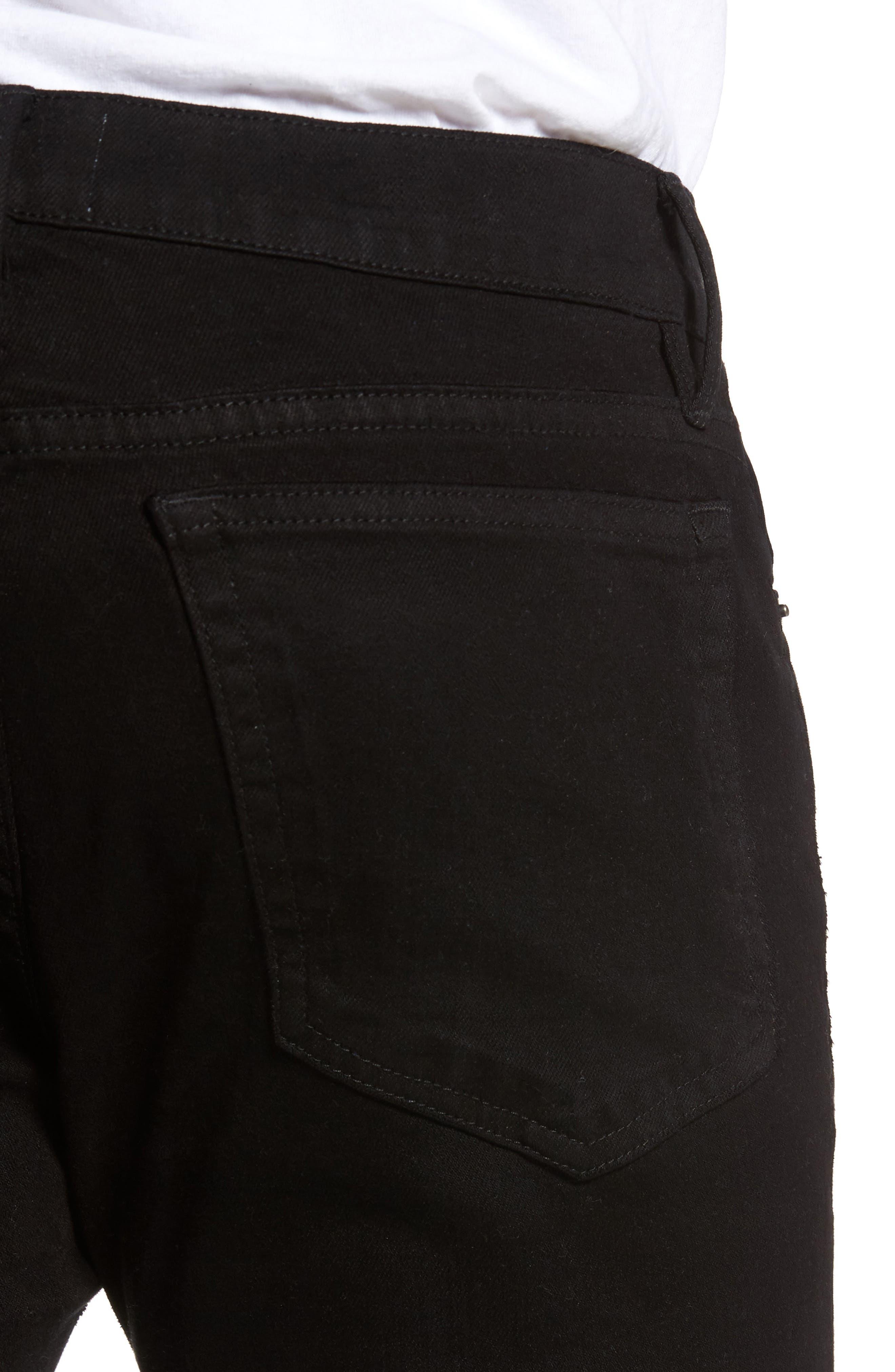 Alternate Image 4  - FRAME L'Homme Slim Fit Jeans (Noir Slits)