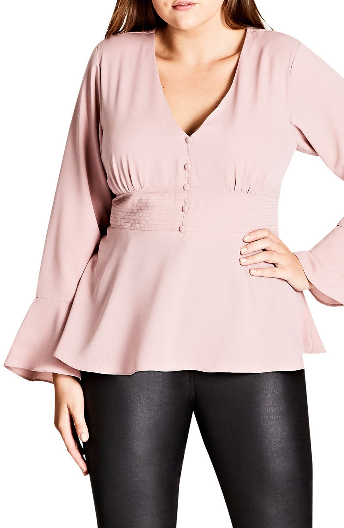 Button Up Top,                         Main,                         color, Dark Rose