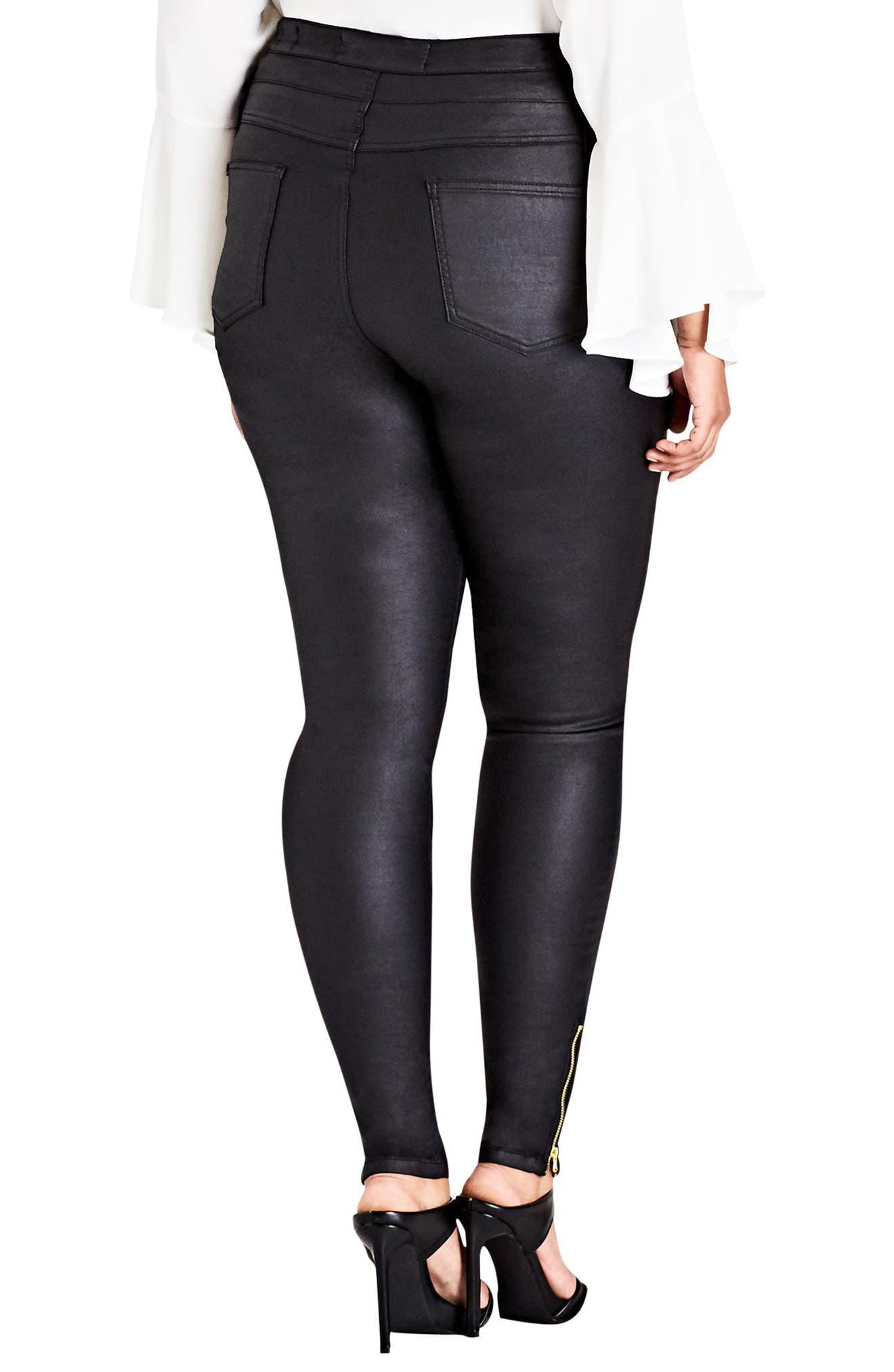 Alternate Image 2  - City Chic Pick Me Up Stretch Skinny Jeans (Plus Size)