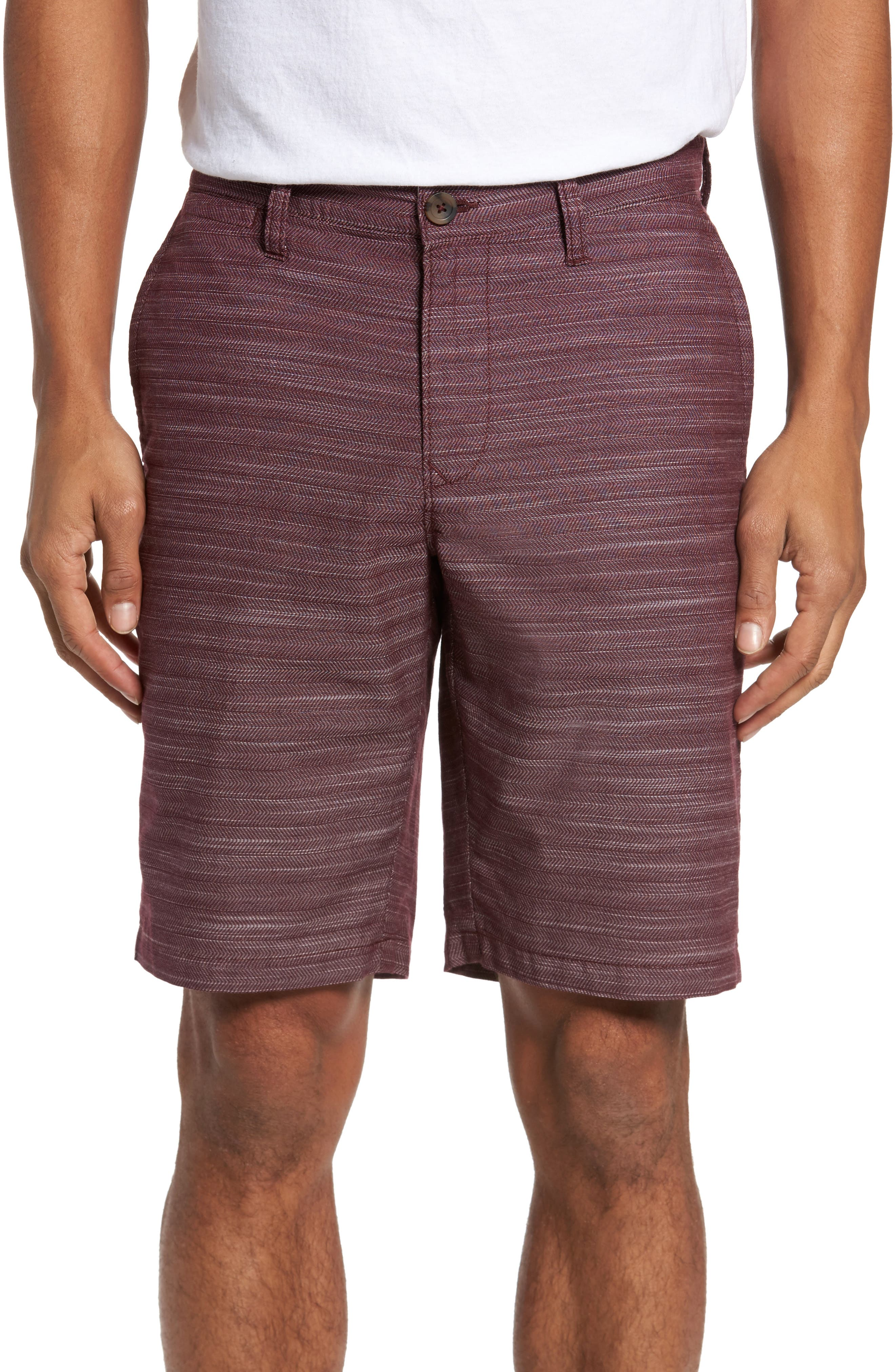 Herringbone Shorts,                             Main thumbnail 1, color,                             Burgundy Royale