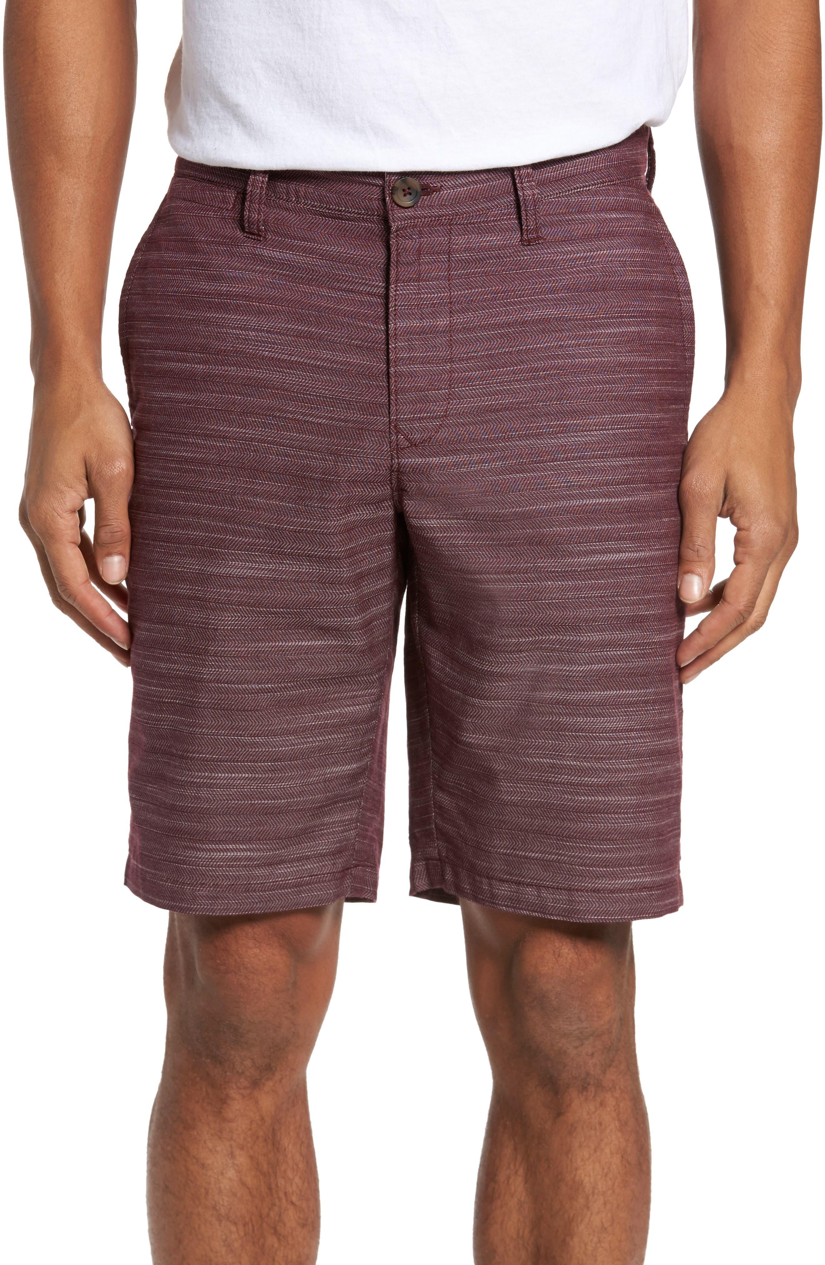 Herringbone Shorts,                         Main,                         color, Burgundy Royale