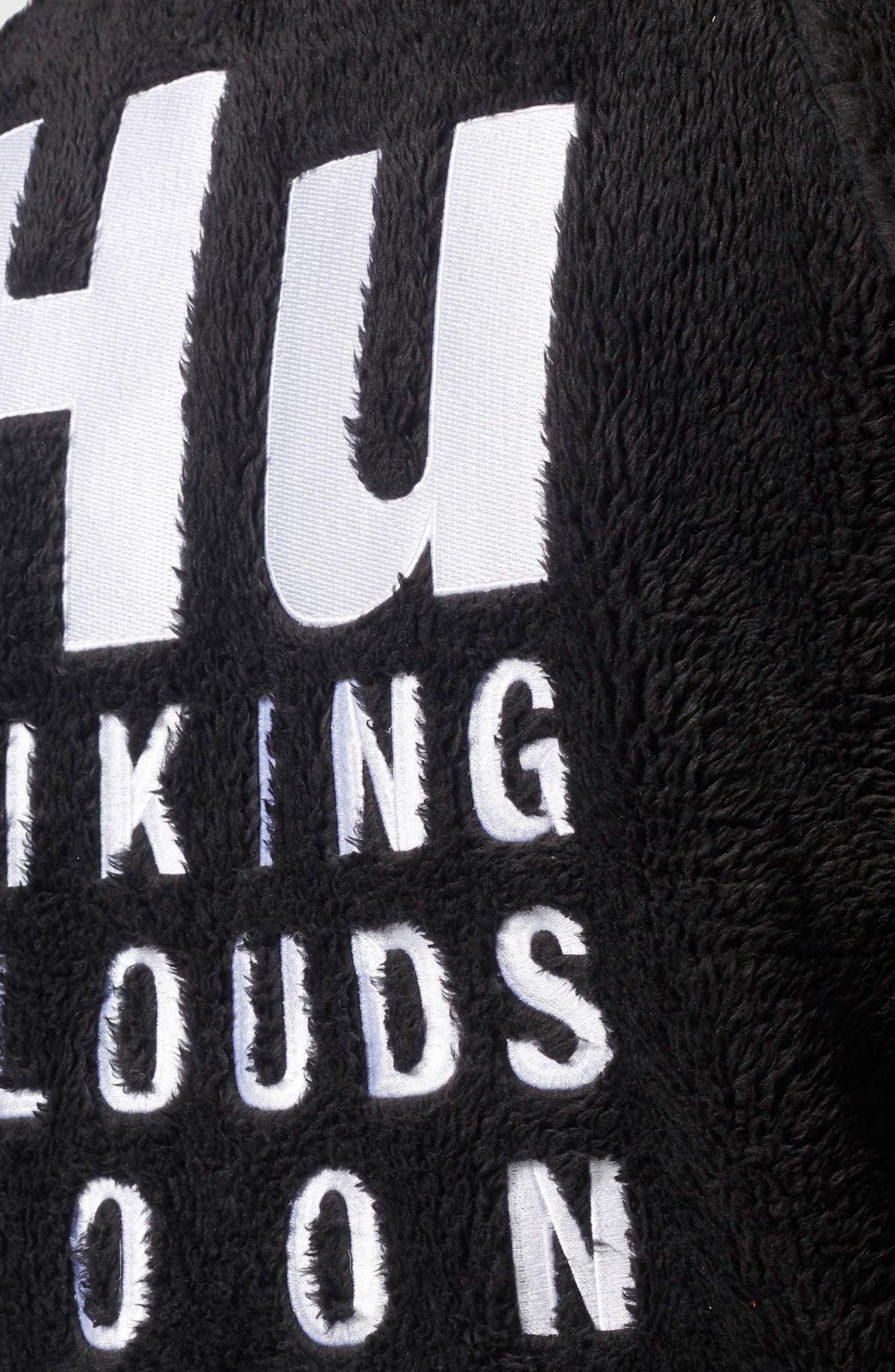 Originals Pharrell Williams Hu Hiking Fleece Track Jacket,                             Alternate thumbnail 4, color,                             Black