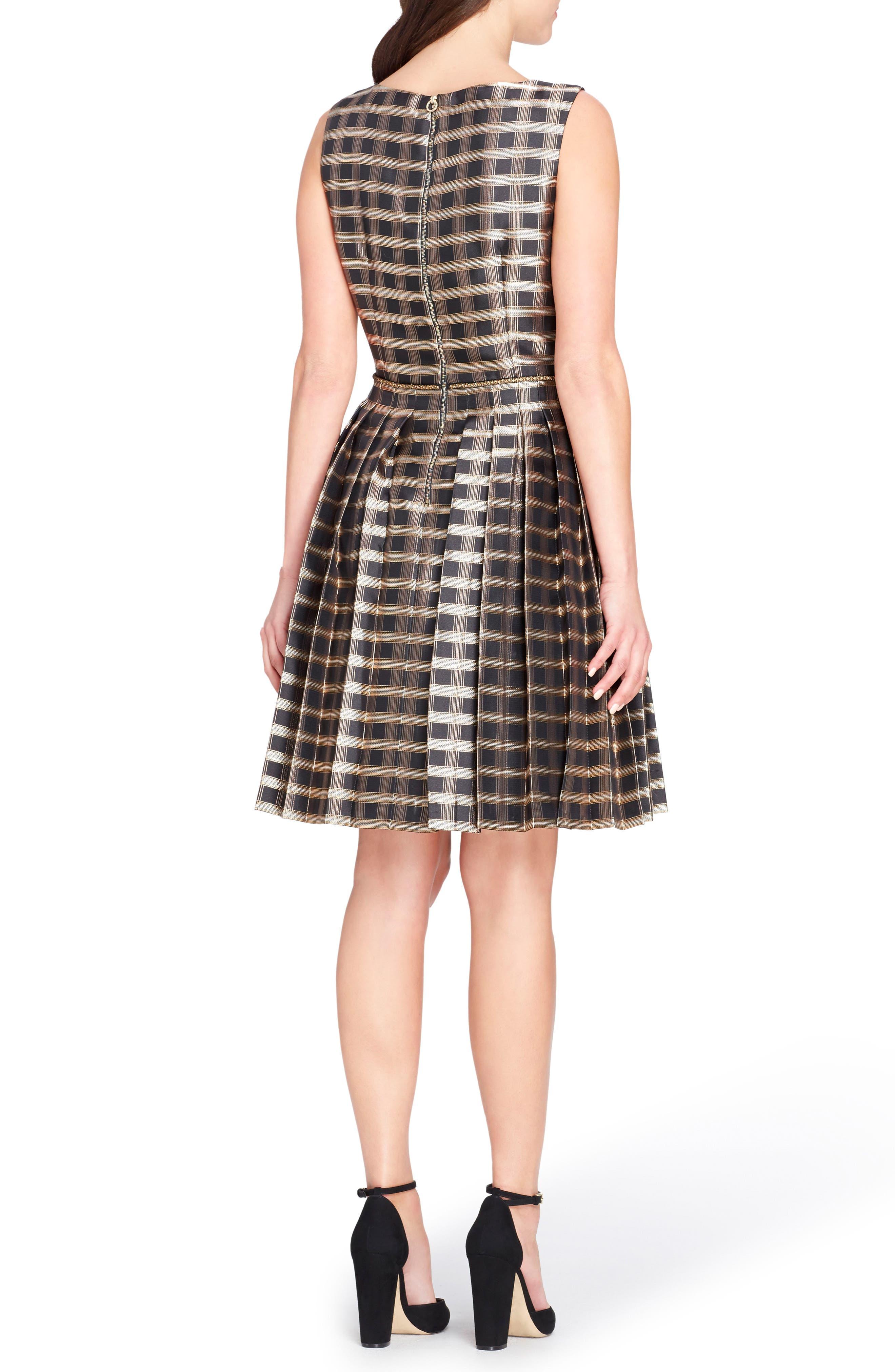Alternate Image 2  - Tahari Jacquard Fit & Flare Dress