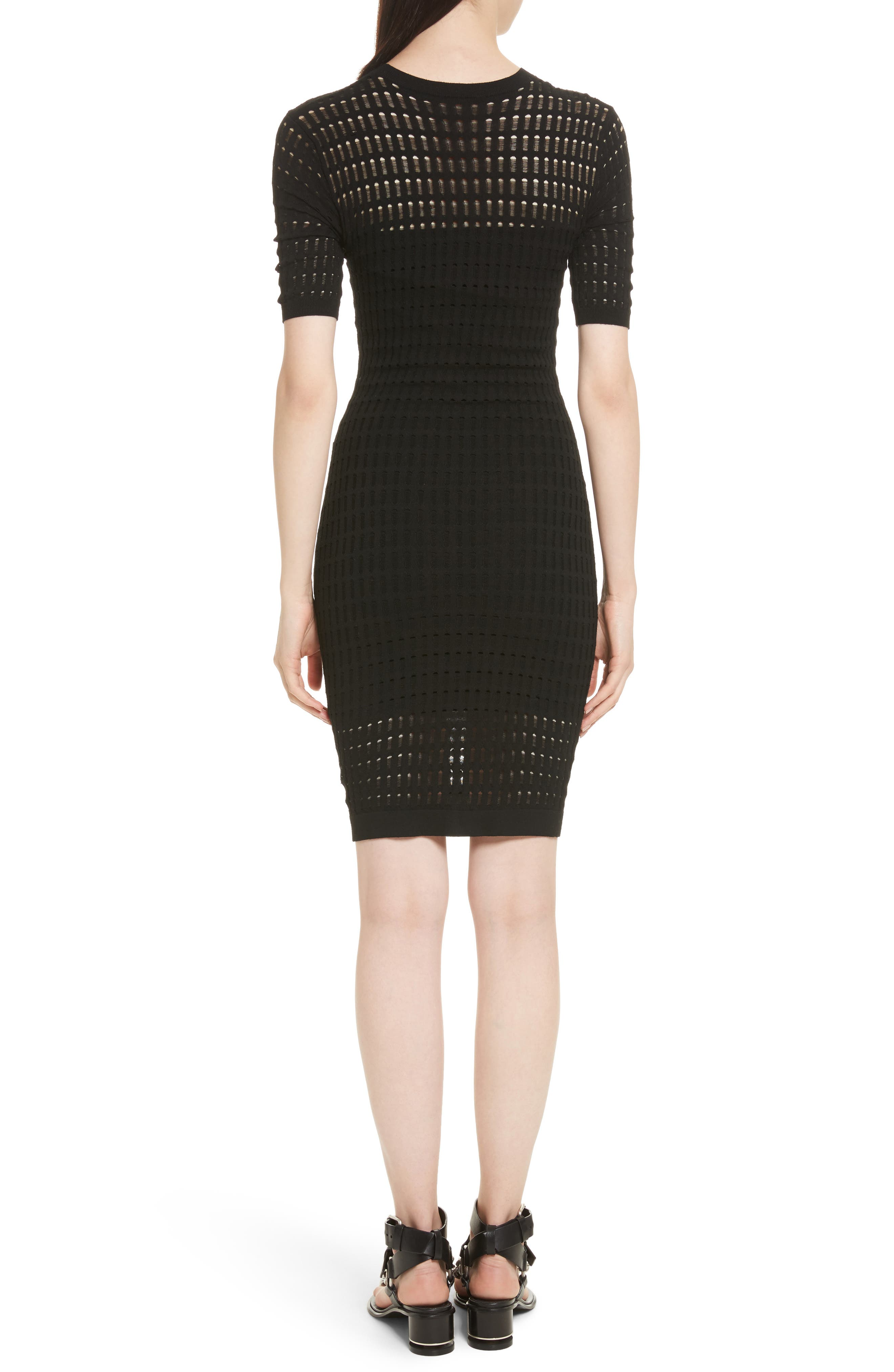 Alternate Image 2  - T by Alexander Wang Float Stitch Lace Dress